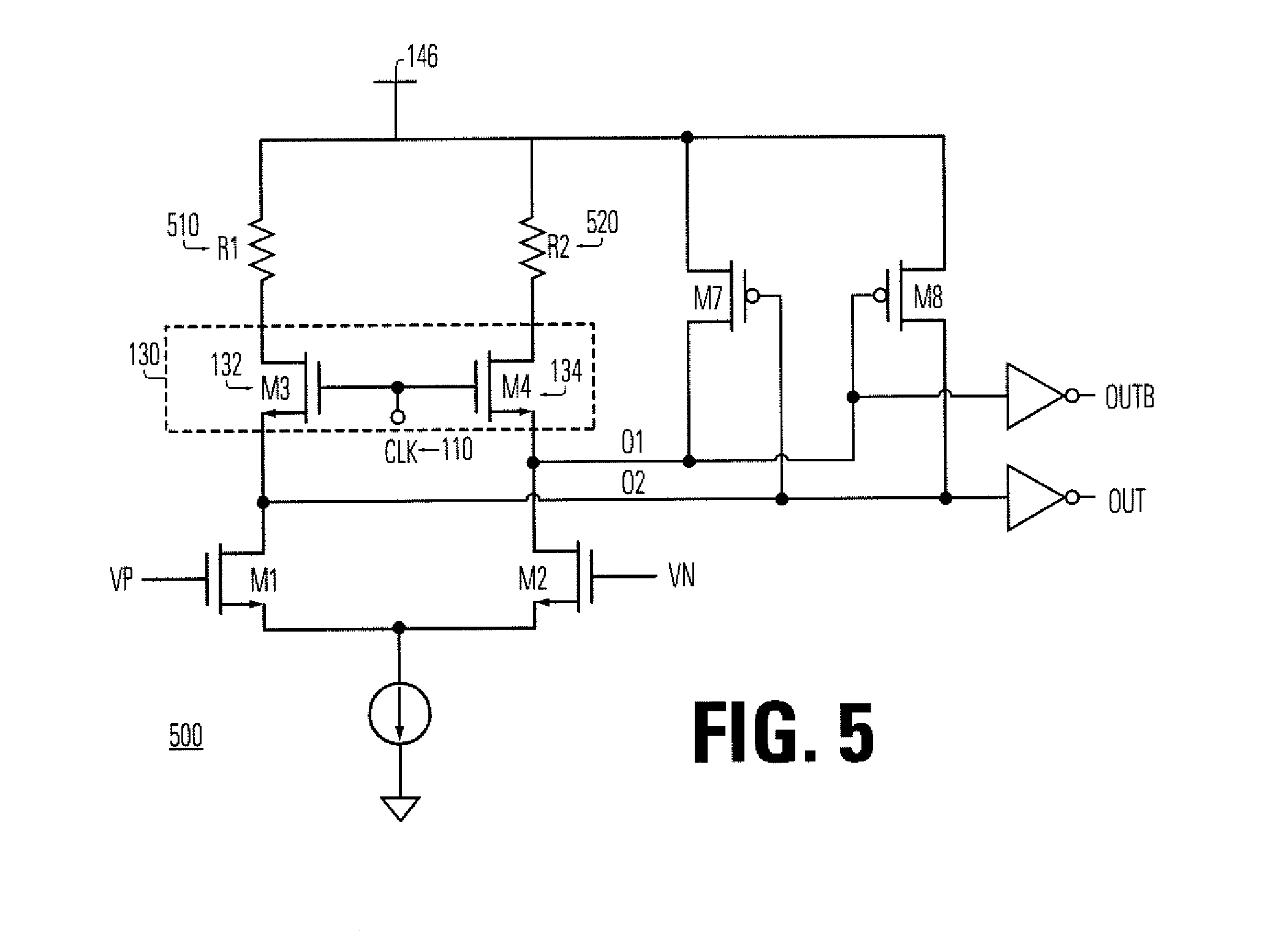 Patent Us7323911 Differential Sense Amplifier Circuit And Method Current Detection Part Diagram Amplifiercircuit Drawing