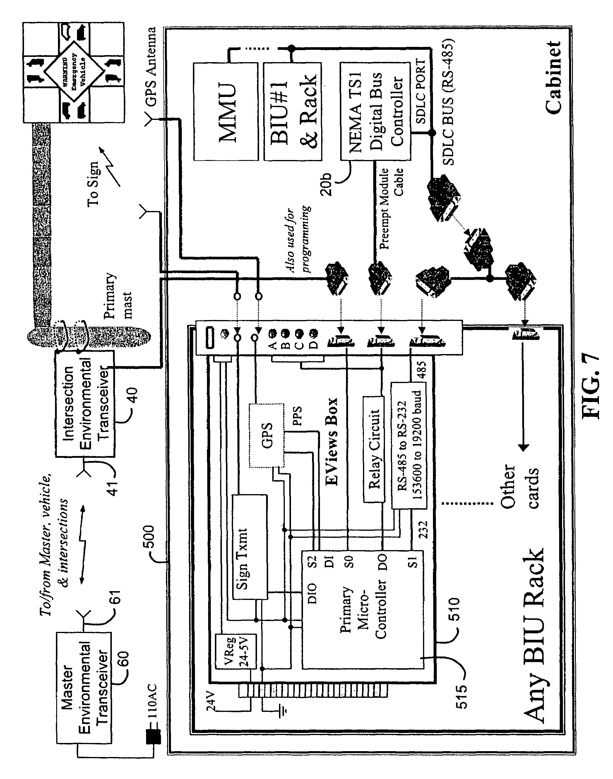 patent us7327280 - emergency vehicle traffic signal preemption system