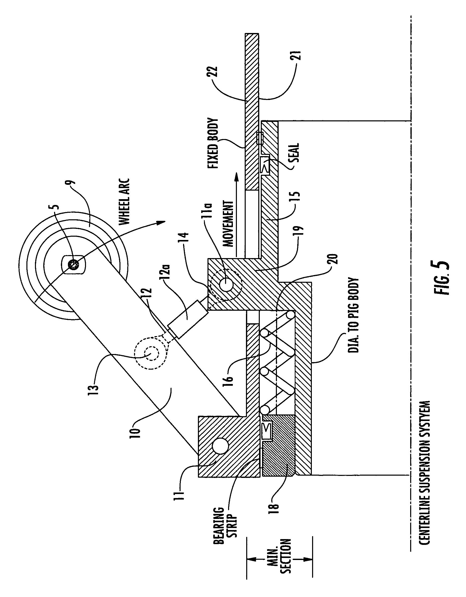 Patent us centre line multidimensional suspension