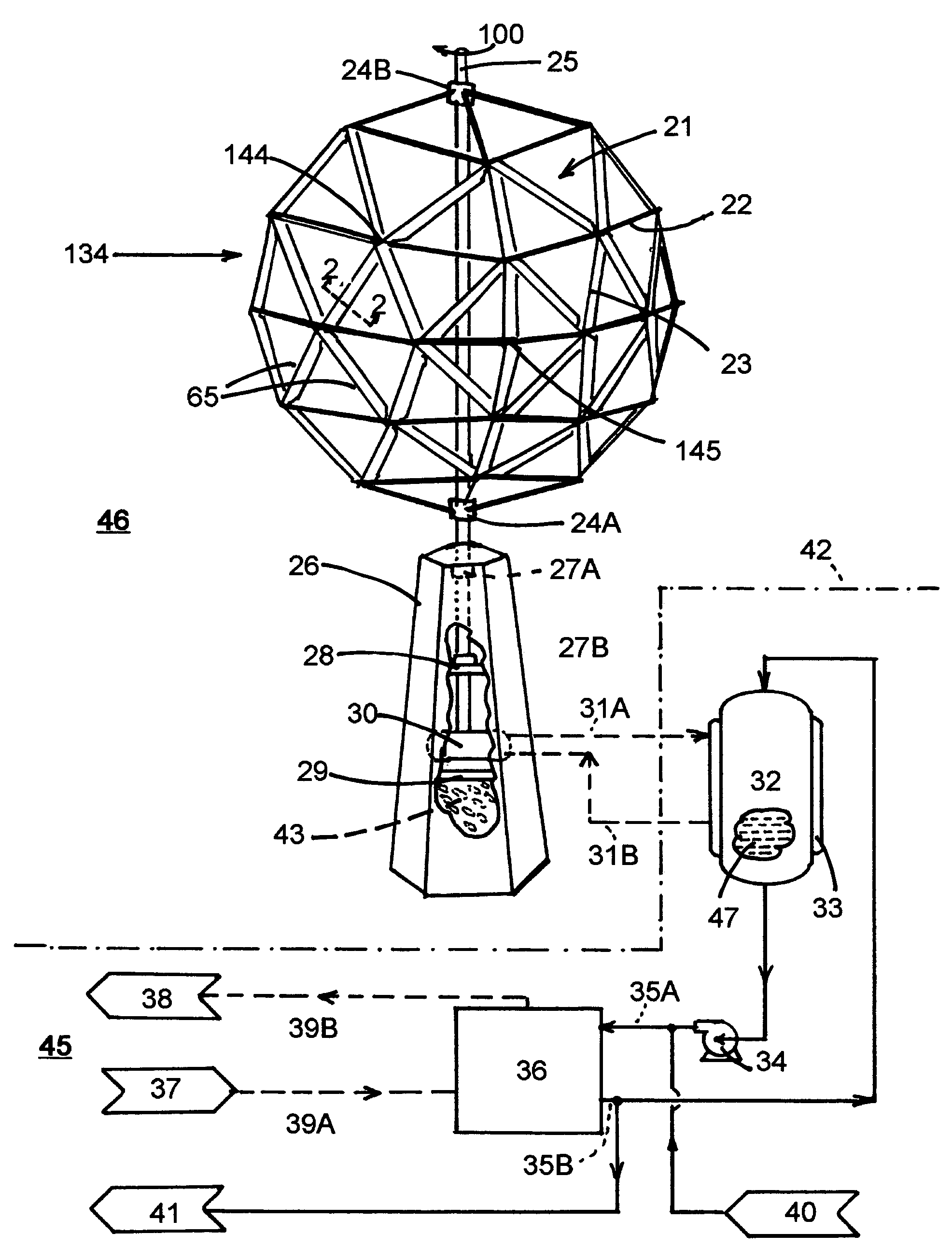 patent us7329099 - wind turbine and energy distribution system