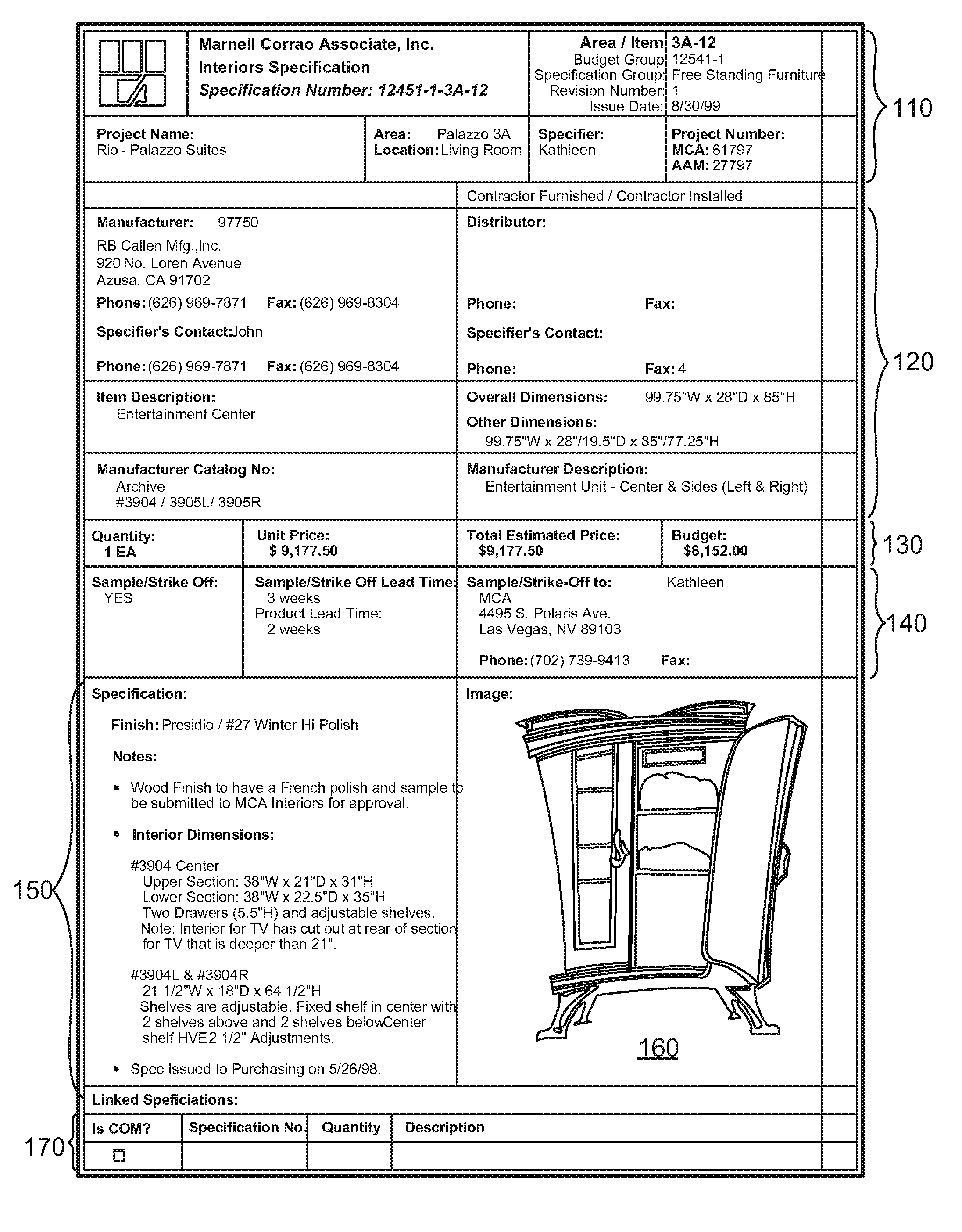 Patent us7330856 item specification object management for Patent specification template
