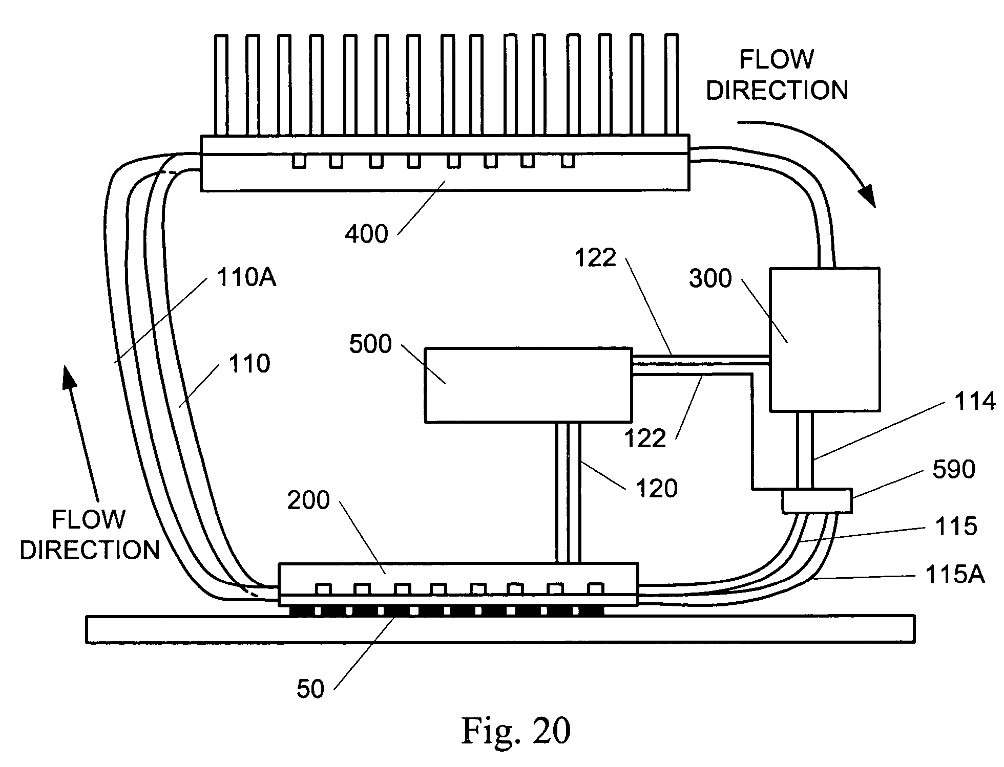 patent us7334630 - closed-loop microchannel cooling system