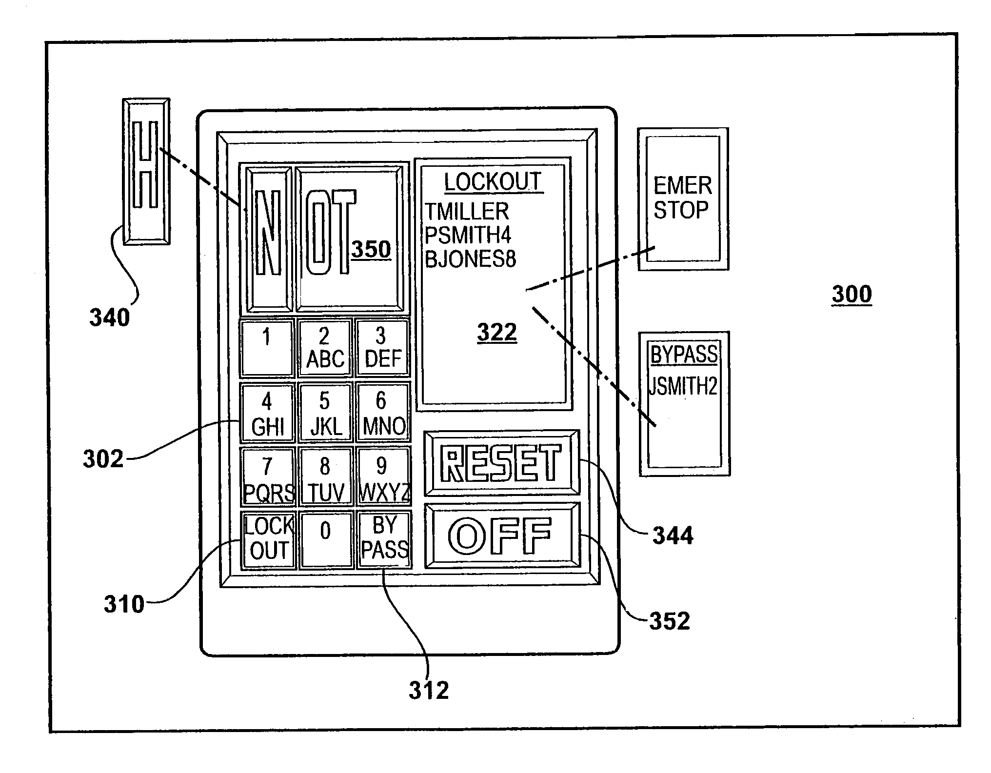 patent us    electrical panel access and control apparatus    patent drawing