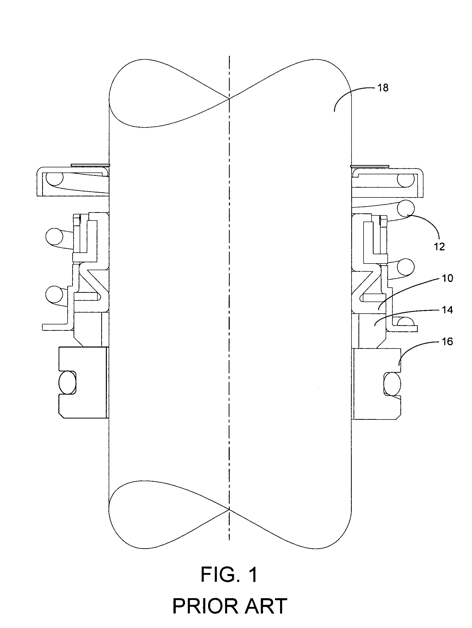 Patent US7344356 - Mechanical seal with bellows seating
