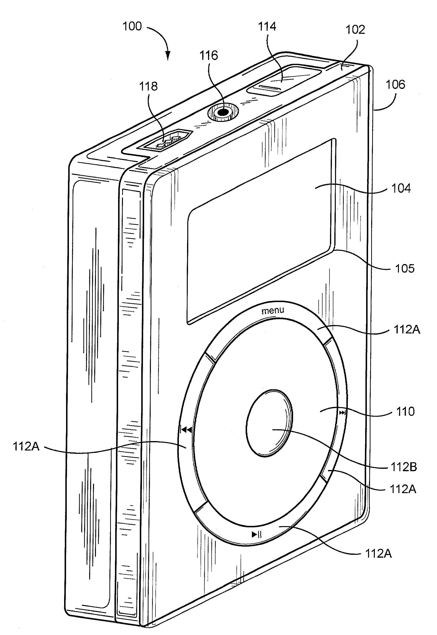 Apple  patent by Steve Jobs from 2008 for method and apparatus for use of rotational user inputs - US7345671