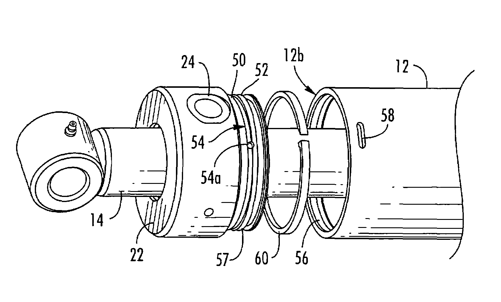 Patent US7350453 - Hydraulic cylinder with rotatable gland