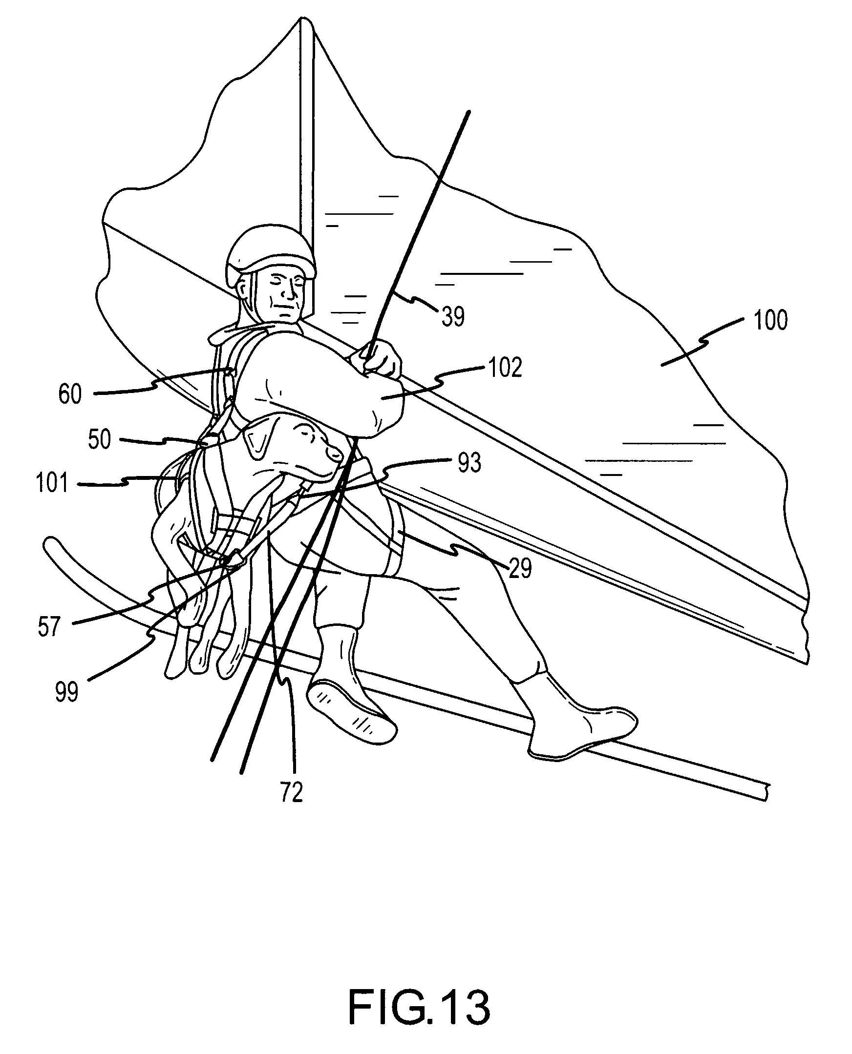 patent us7353779 - k-9 rappel harness system