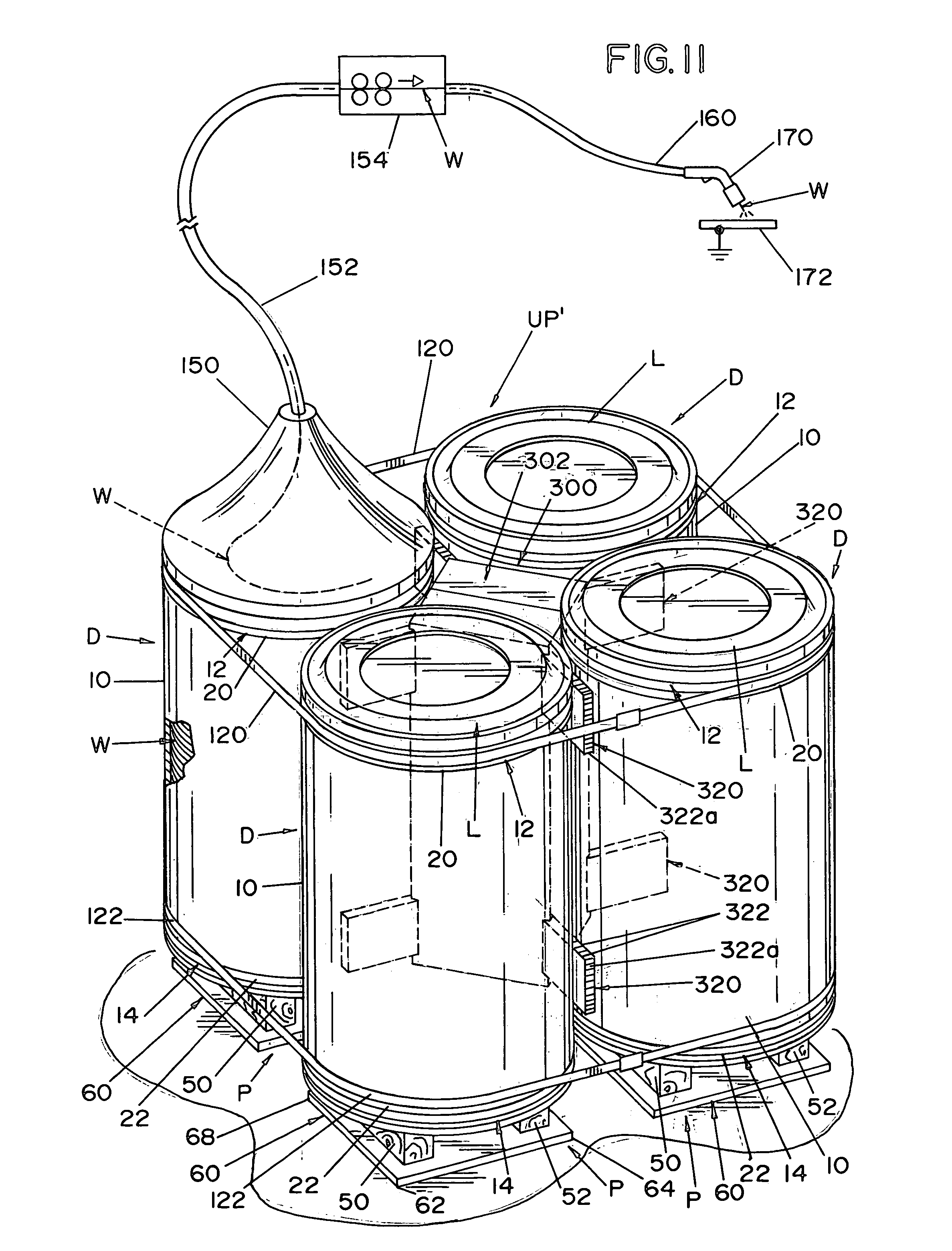 patent us7353947 - welding wire drum and unitized package for same