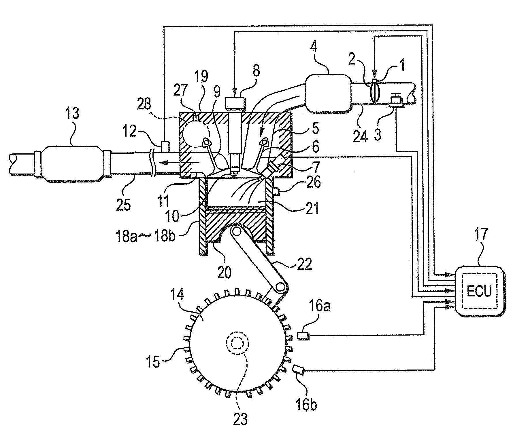 patent us7363143 control apparatus for internal bustion engine First Internal Combustion Engine Car patent drawing