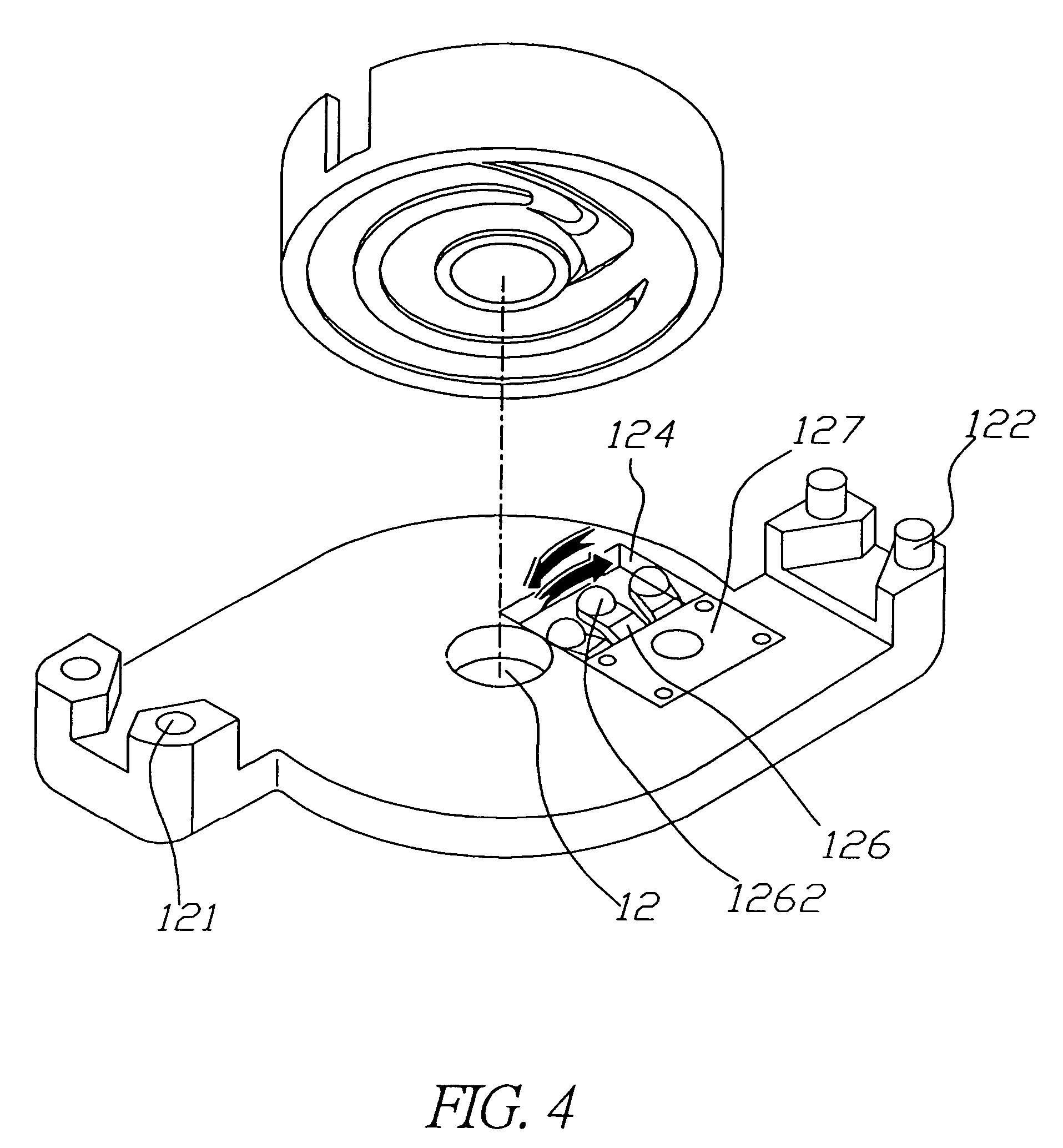 Retractable String Mechanism Wiring Patent Us7364109 Cable Reel Google Patents