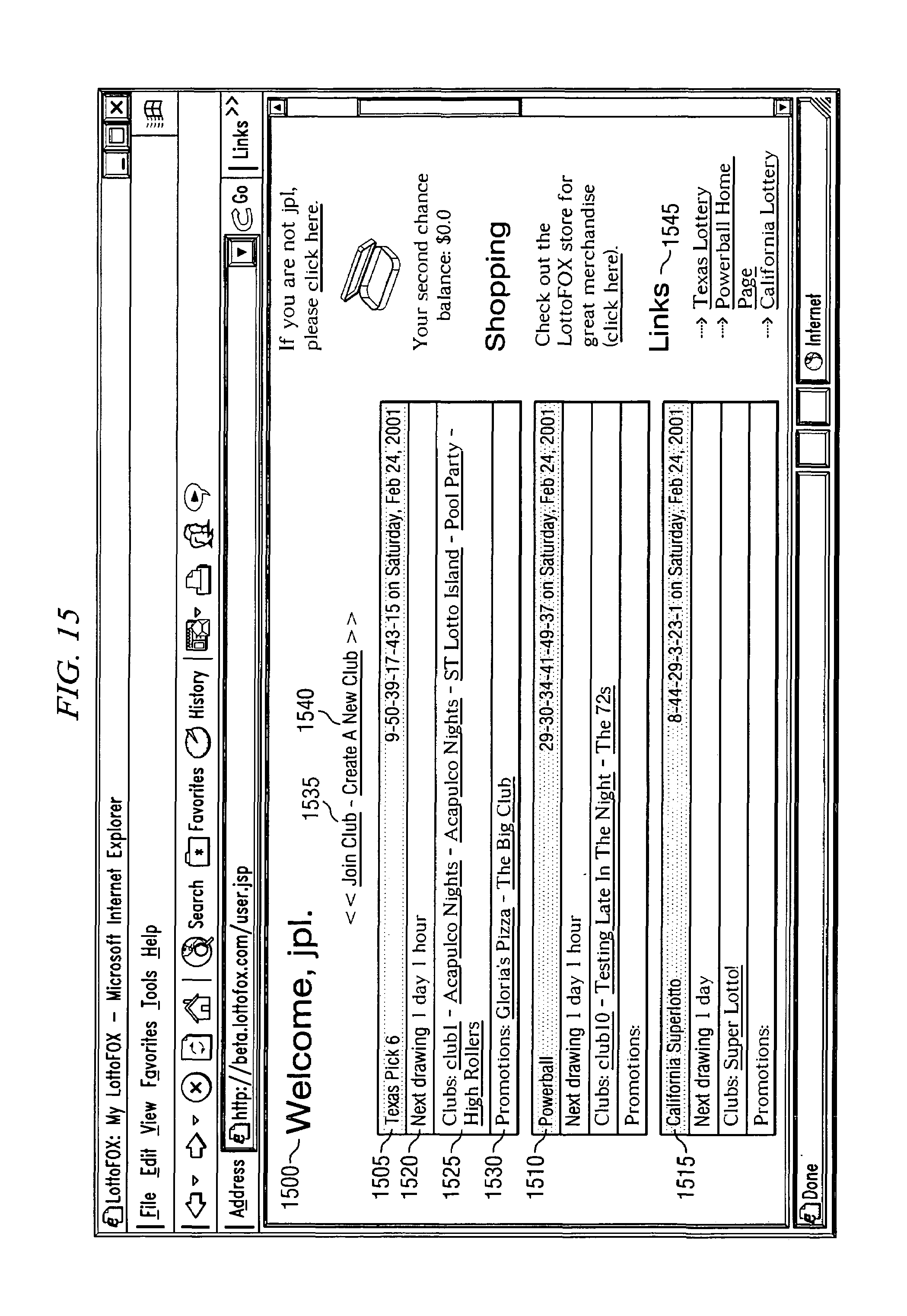 Patent US7374483 - System, methods and apparatuses for