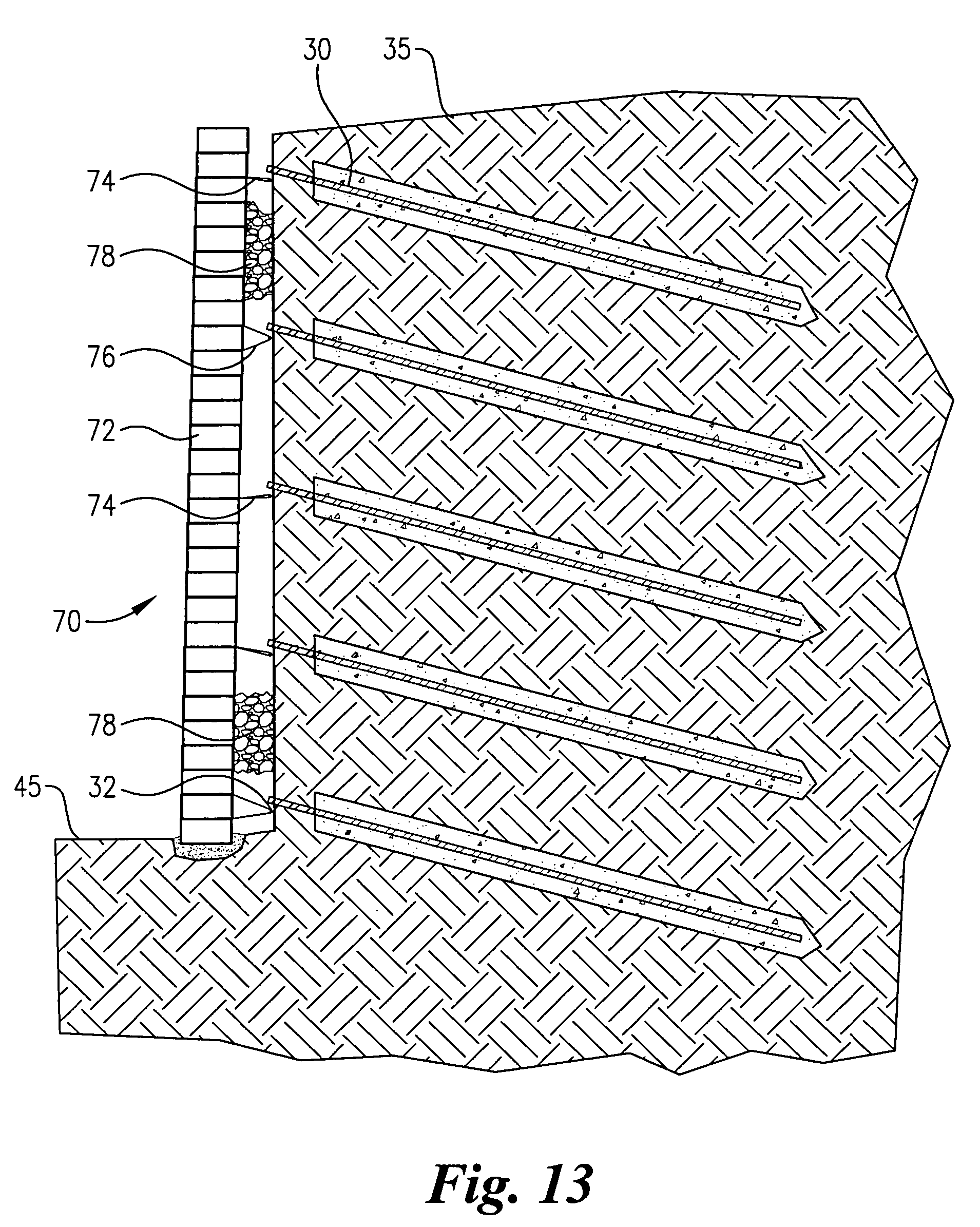 Patent us7377725 arched soil nail wall google patents for Soil nail wall design