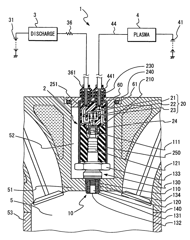 patent us7387115 - plasma ignition system