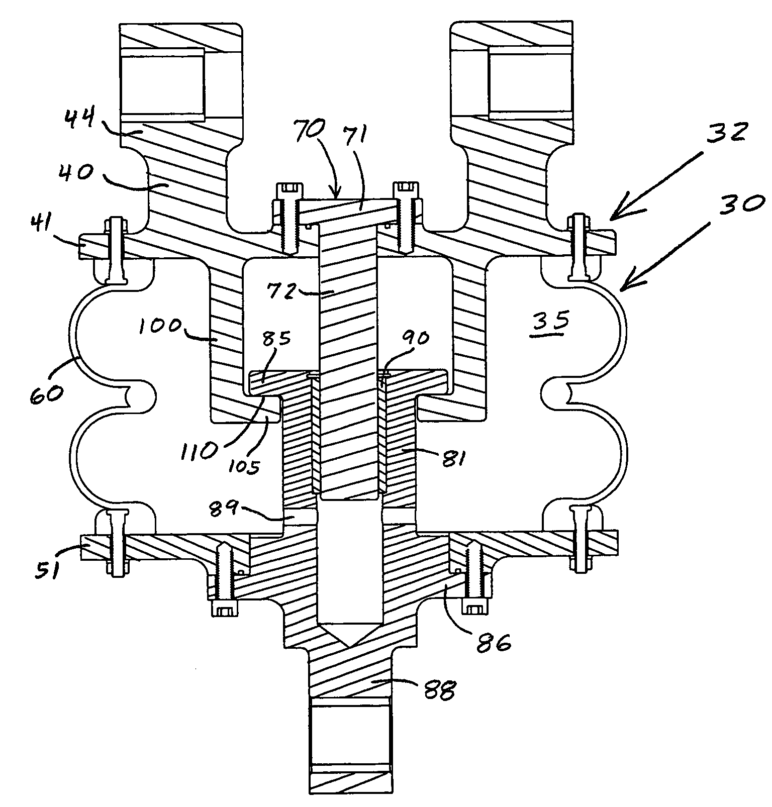 patent us7392887 bladder actuator for a railroad retarder Bladder Dome Diagram patent drawing