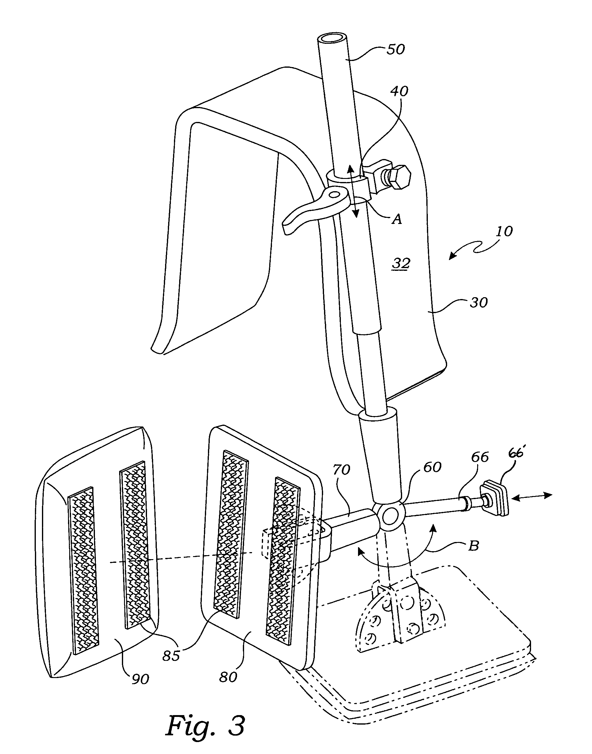 patent us7393057 portable adjustable headrest patents Geriatric Wheelchair patent drawing
