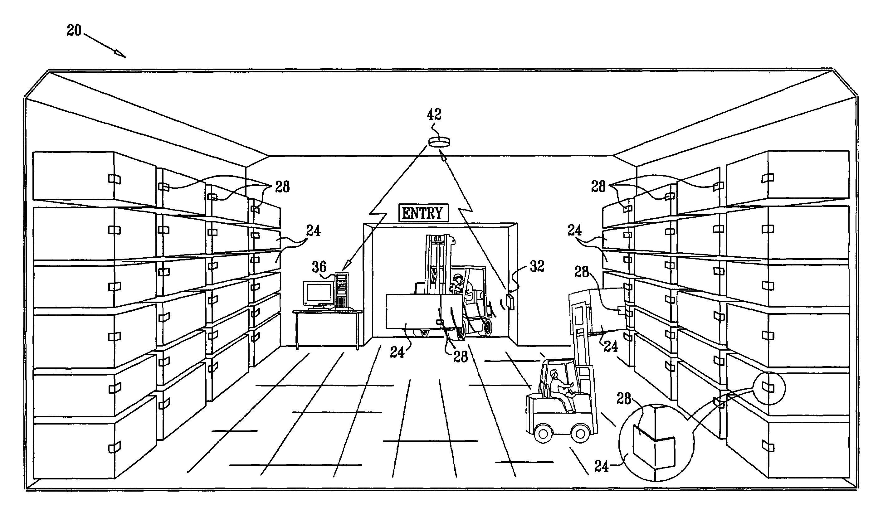 Patent Us7394382 Battery Assisted Backscatter Rfid Transponder Half Duplex Mini Transponders Drawing