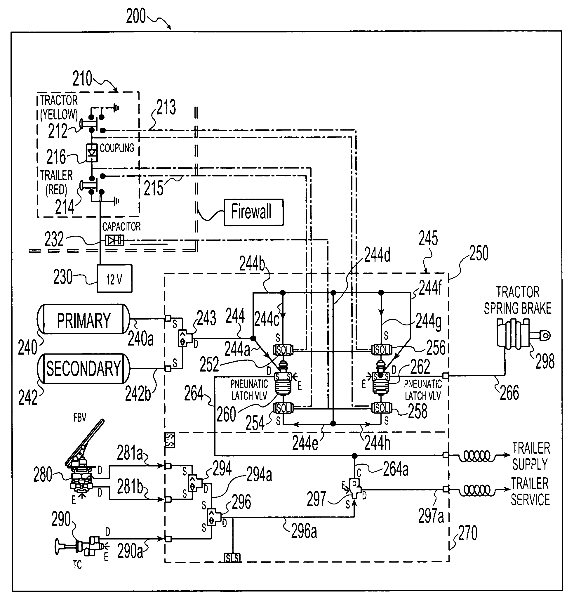US07396089 20080708 D00000 patent us7396089 electro pneumatic latching valve system meritor abs wiring diagram at crackthecode.co