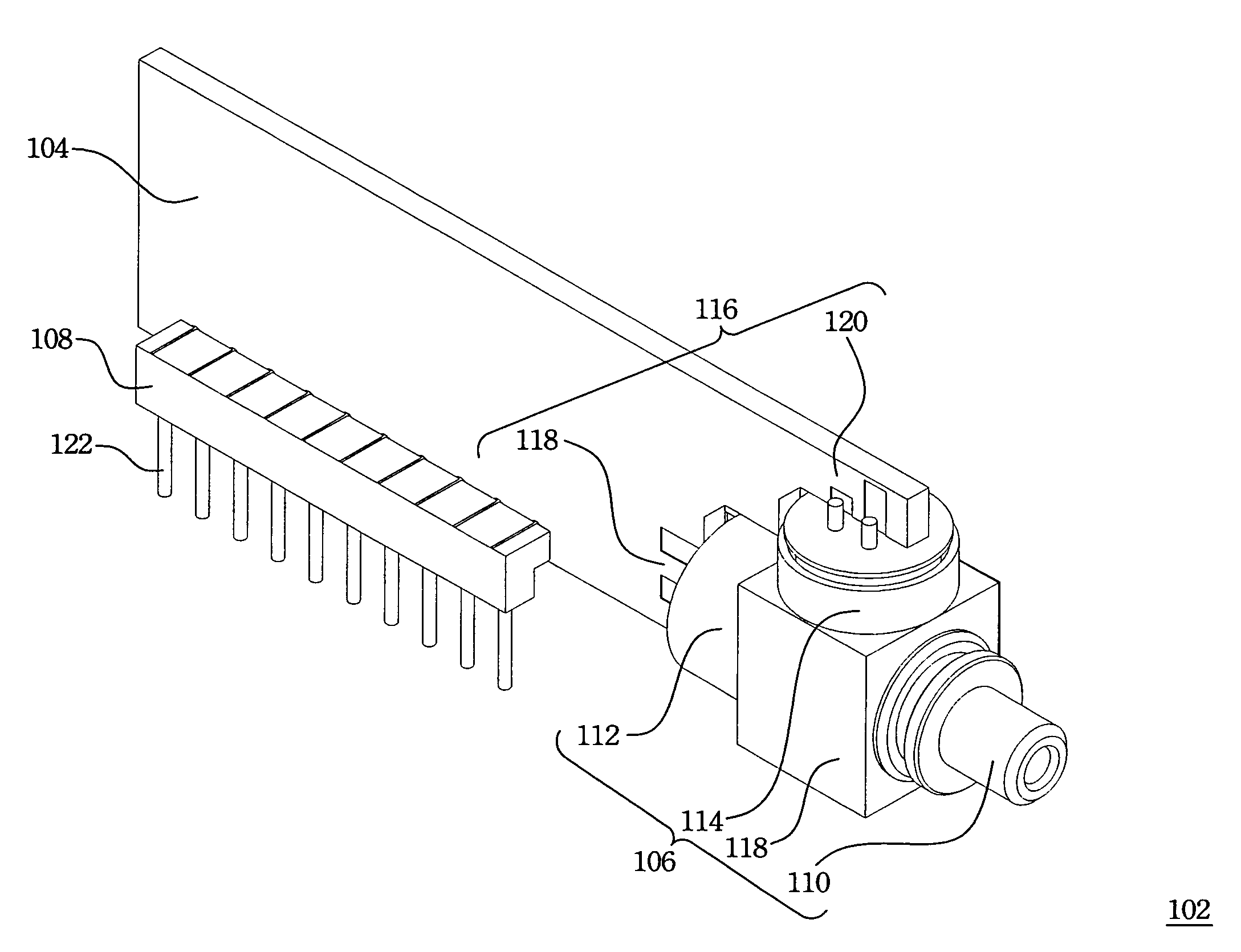 patent us7396166 - optical transceiver module