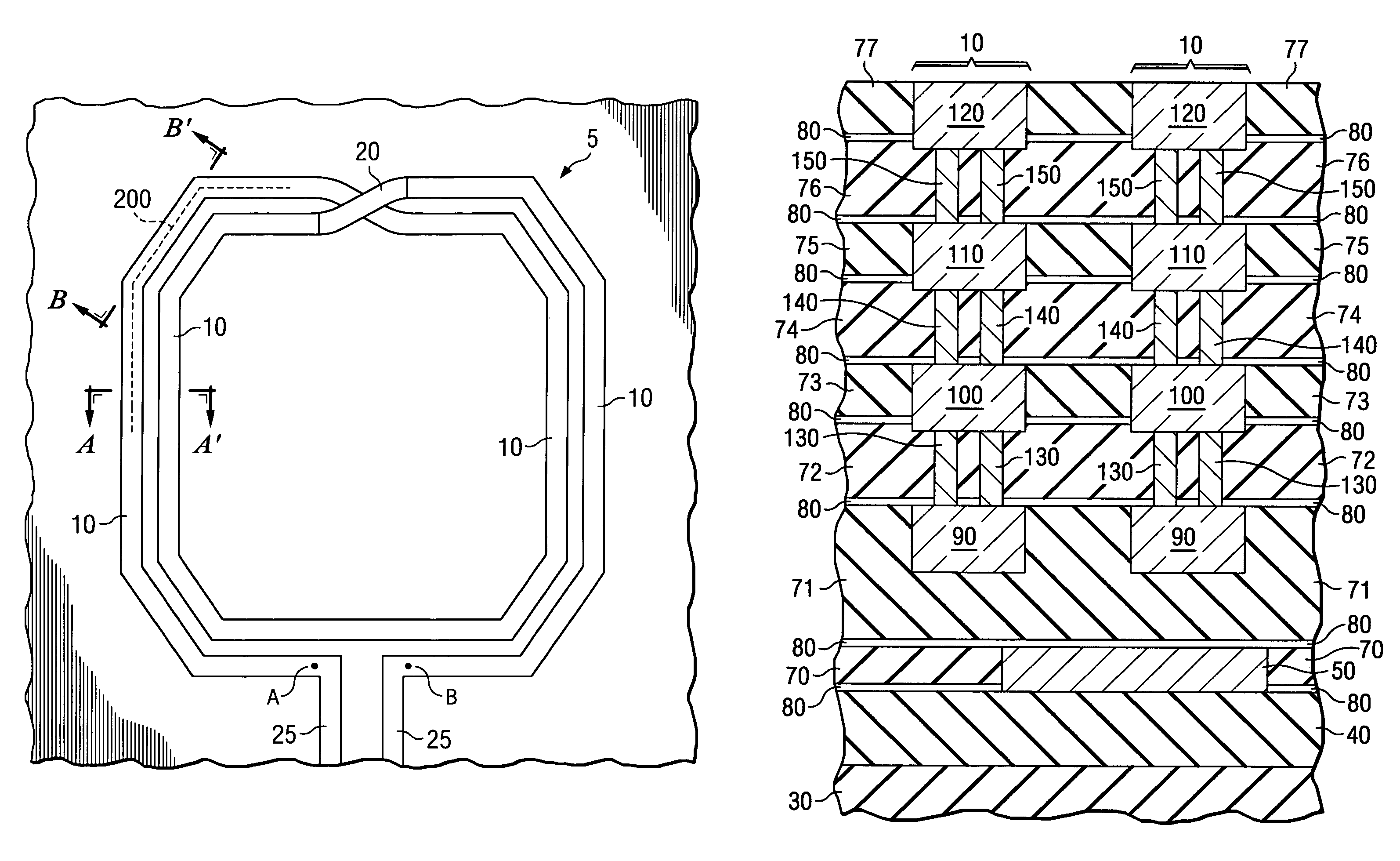 Patent Us7400025 Integrated Circuit Inductor With Vias Diagram Drawing