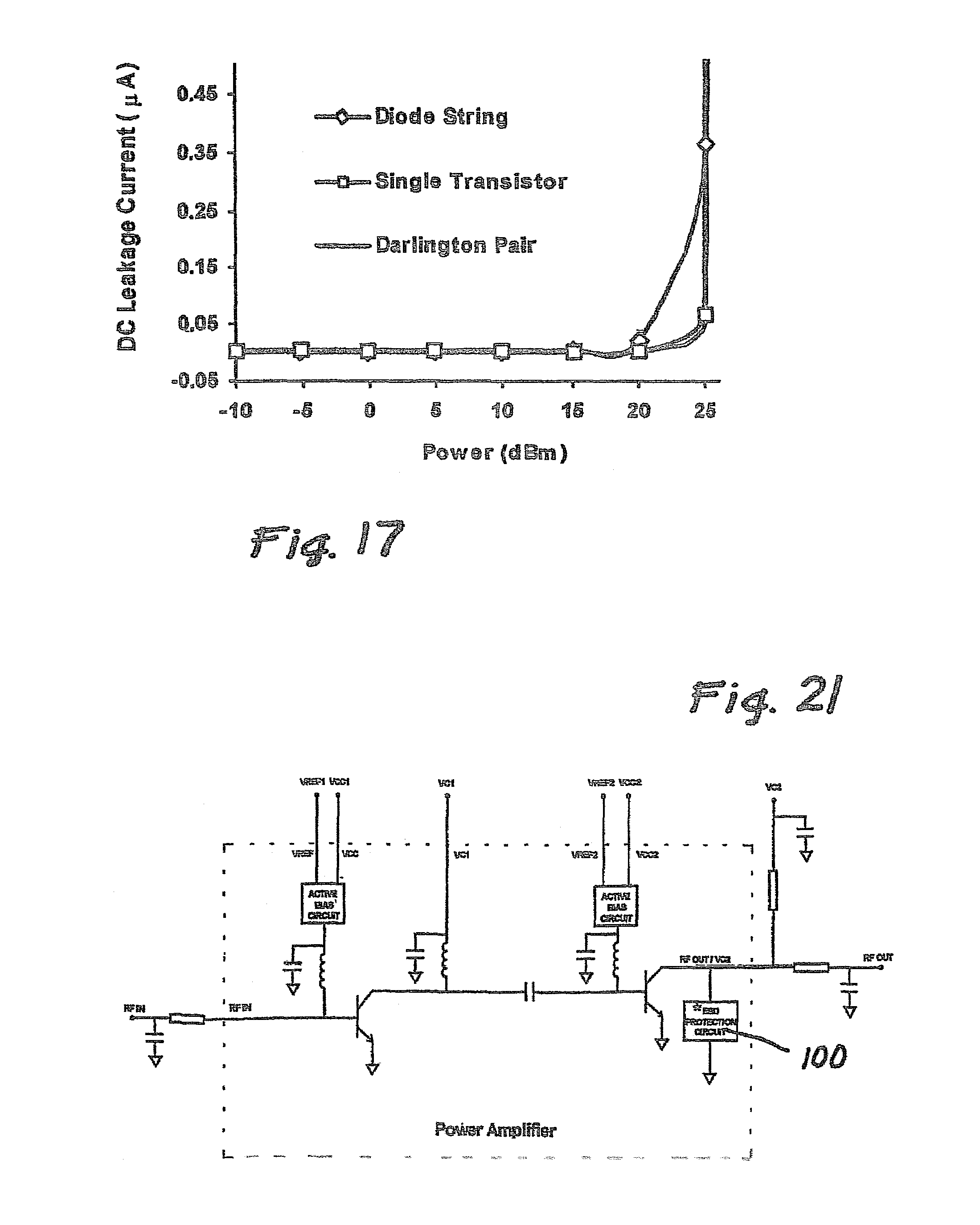 Patent Us7408752 On Chip Esd Protection Circuit For Compound Current Gain In Darlington Pair Transistor Drawing