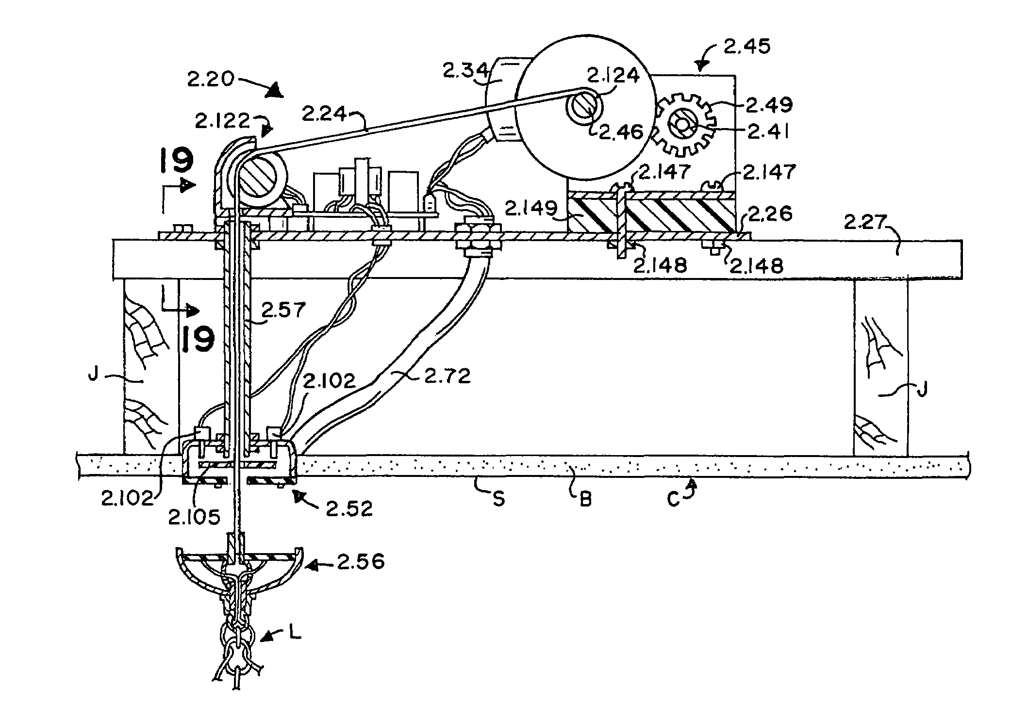 Patent Us7410150 Winch Safety Switch For A Hoist