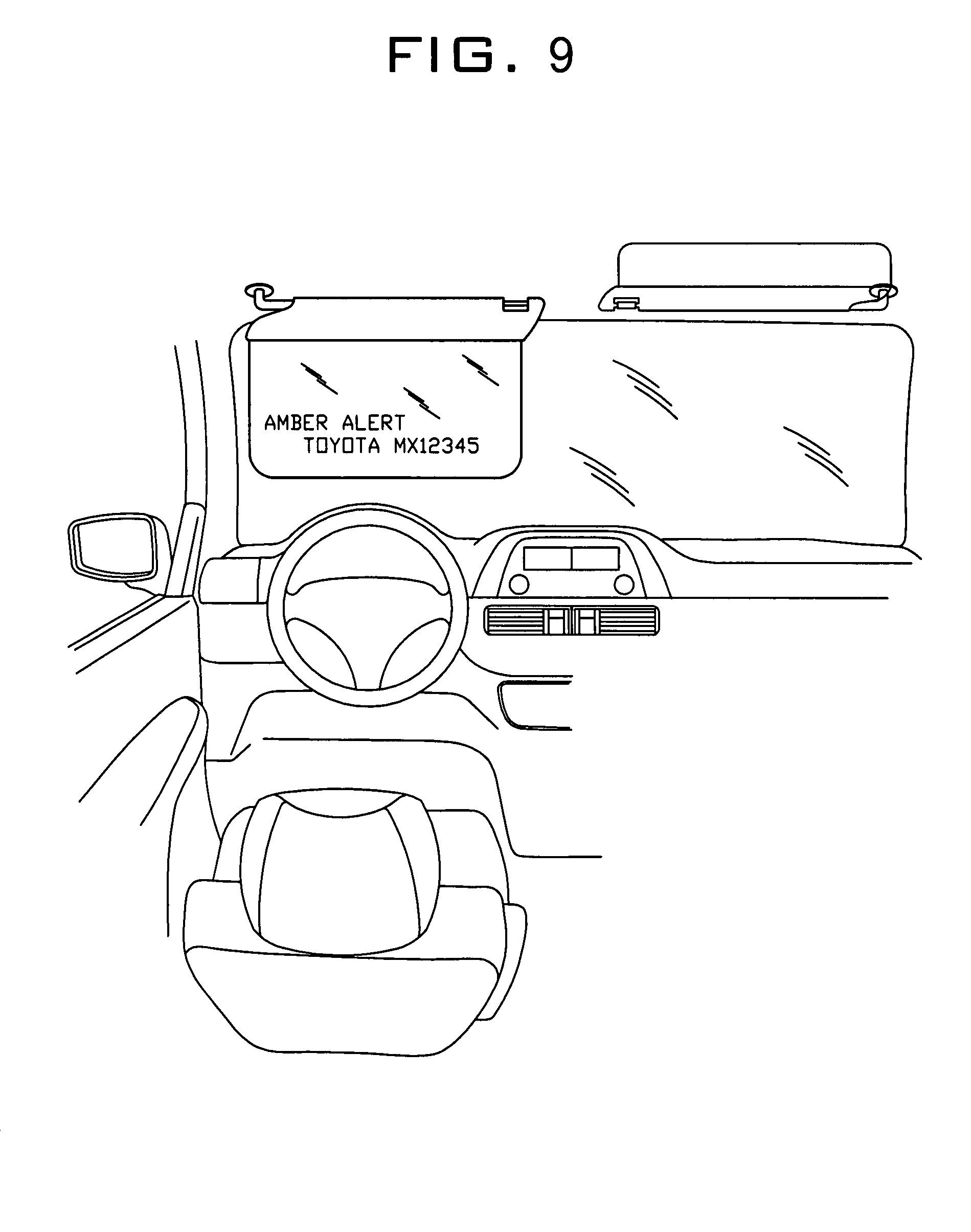 Patent US7413233 - Vehicle sun visor with auto-shading prompter ... | {Auto cockpit beschreibung 31}