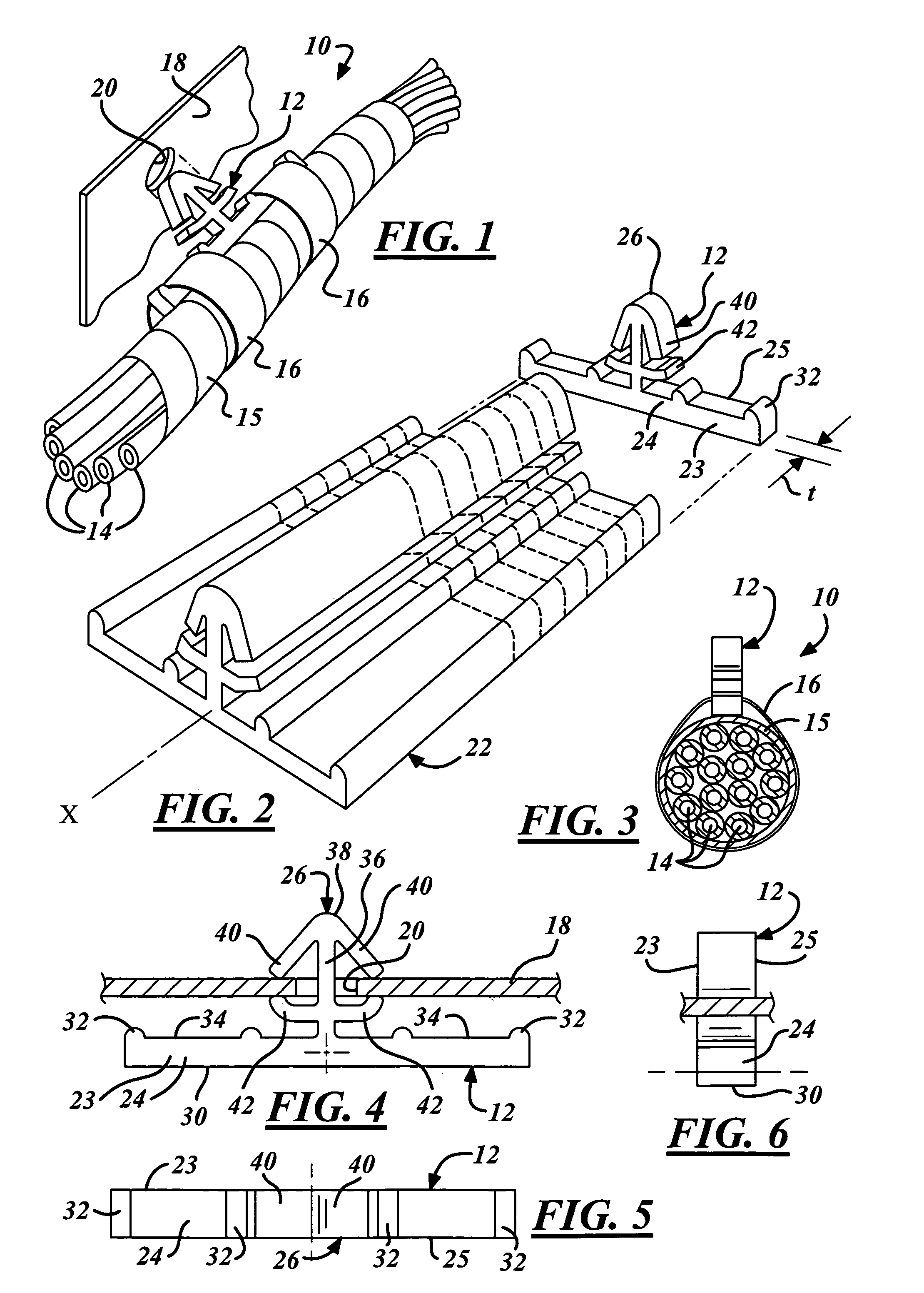 Patent Us7435904 Wiring Harness Clip And Method Of Making Same Rib Drawing