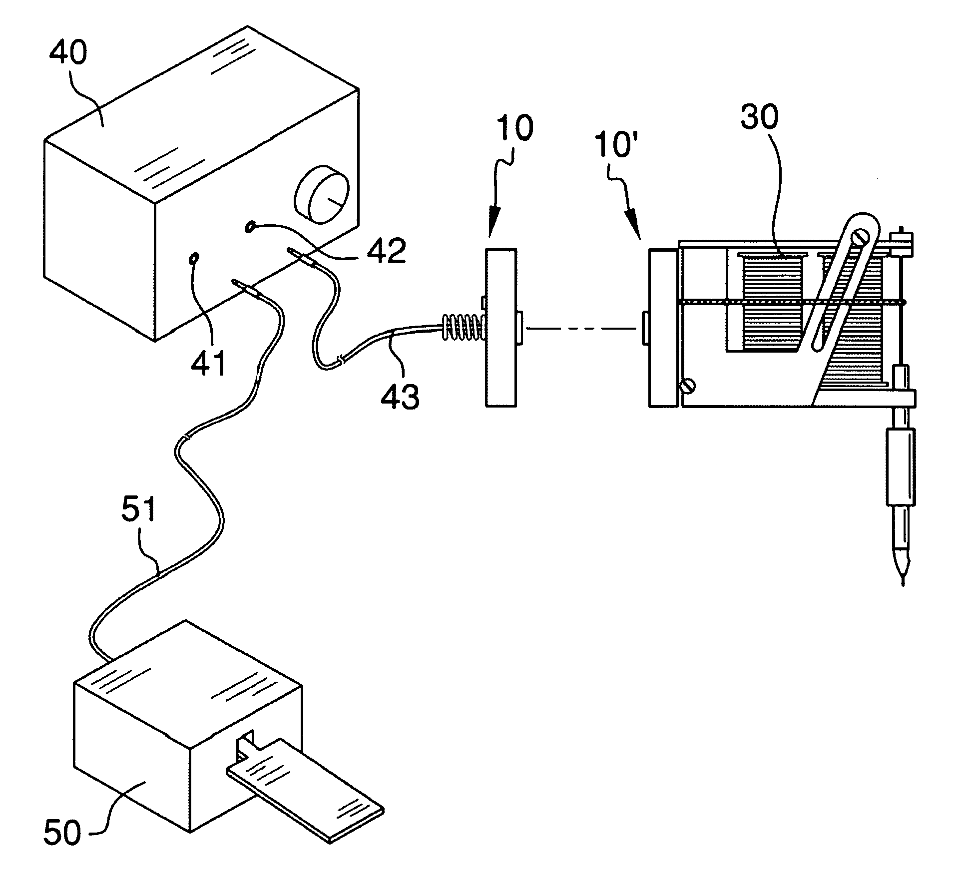 patent us7442042 - magnetic clip cord