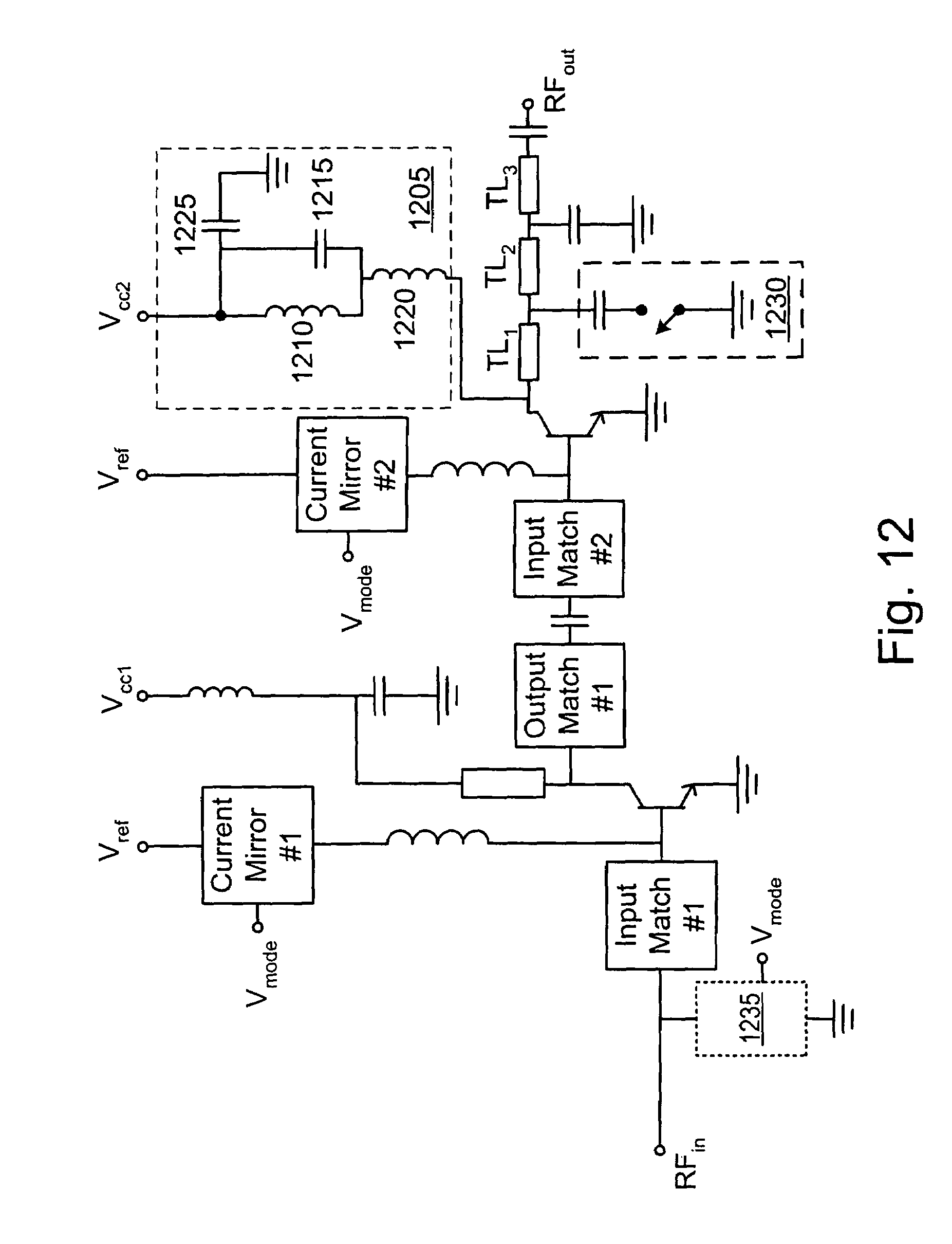 Patent Us7443236 Cdma Power Amplifier Design For Low And High Analog Isolation Circuit Amplifiercircuit Diagram Drawing