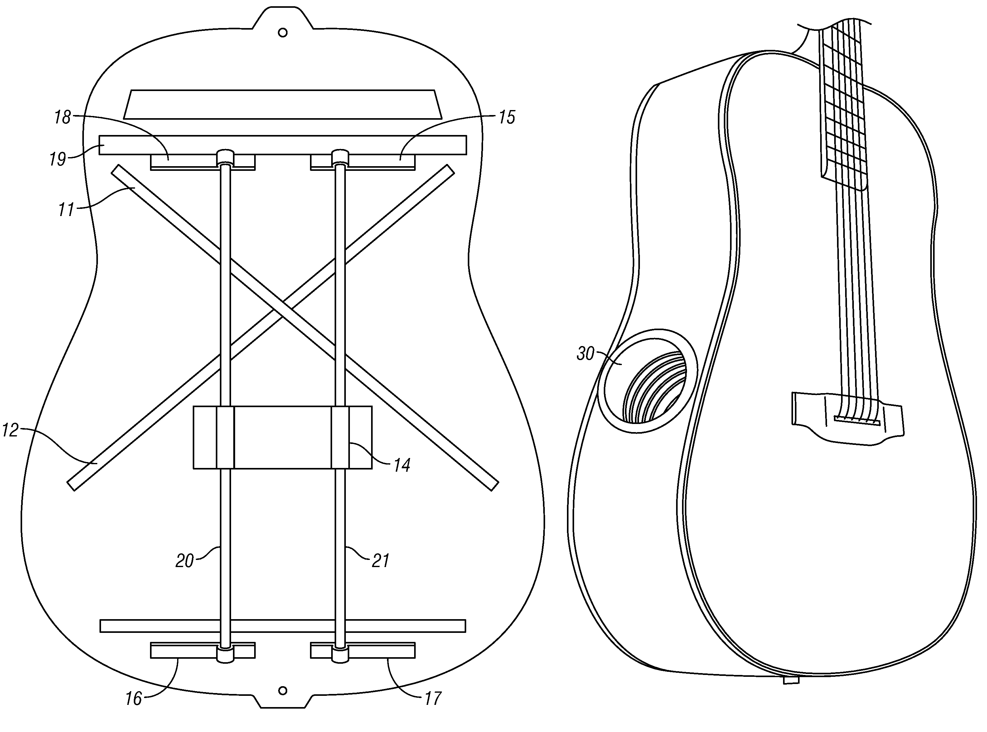 patent us7446247 - suspended bracing system for acoustic musical instruments