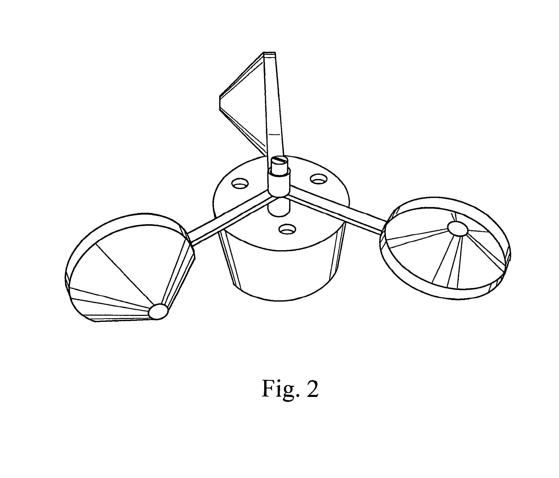 patent us7454968 wind powered wireless rf anemometer Multiple Frequency Shift Keying patent drawing
