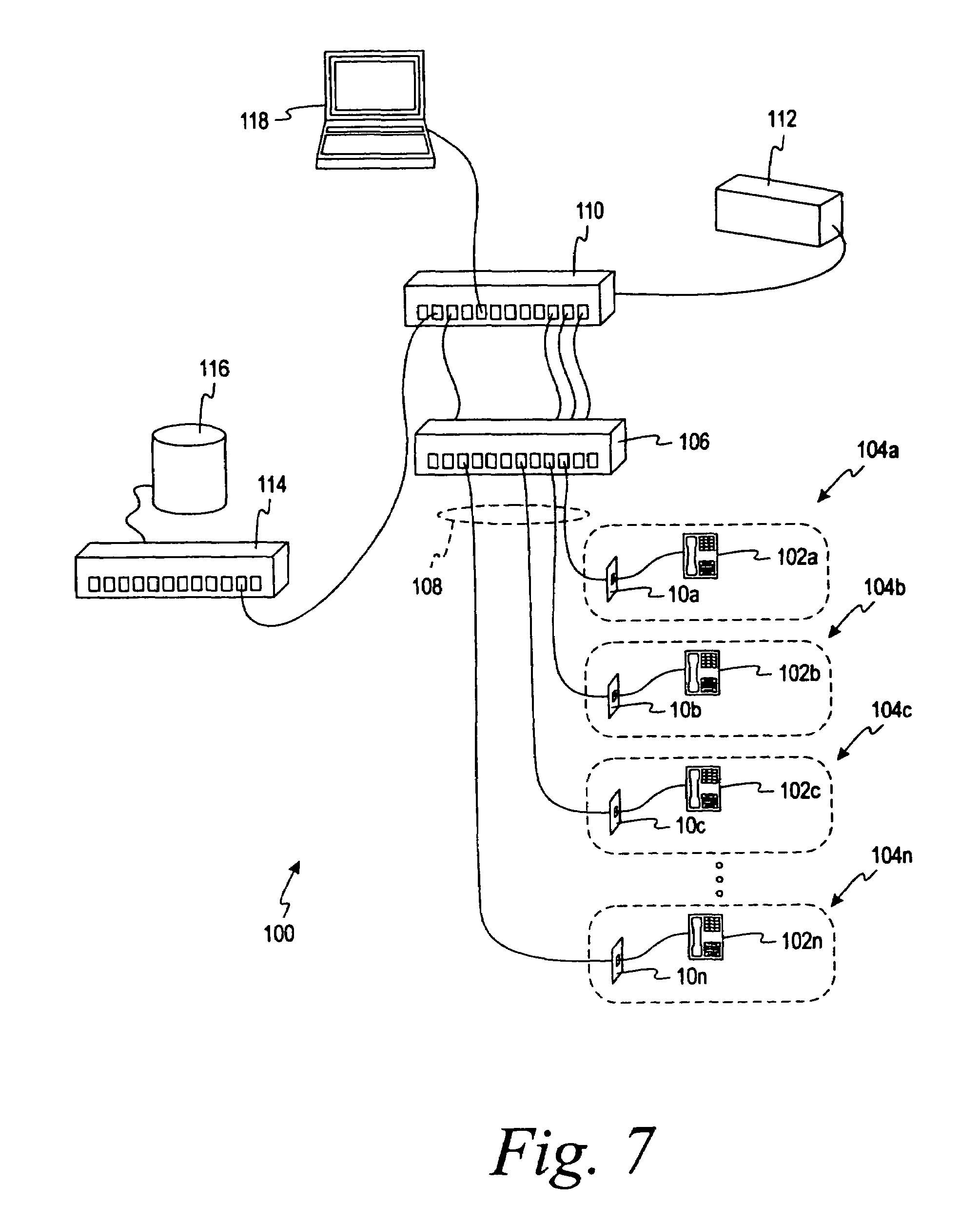 patent us7455527 powered patch panel patentsuche 110 Plug Wiring Diagram patent drawing