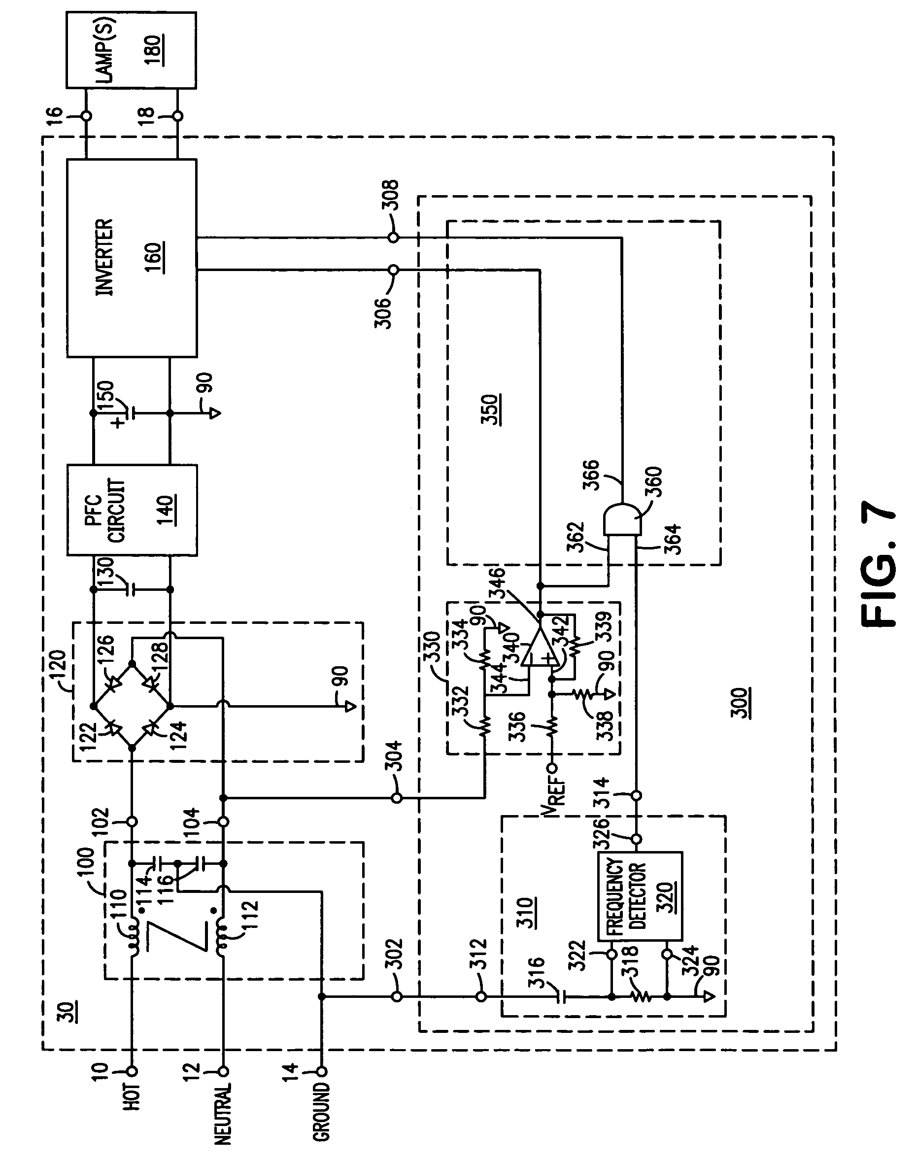 Patent Us7456588 Arrangement And Method For Providing Power Line Circuit Positive Negative Half Cycles Halfcycle Drawing
