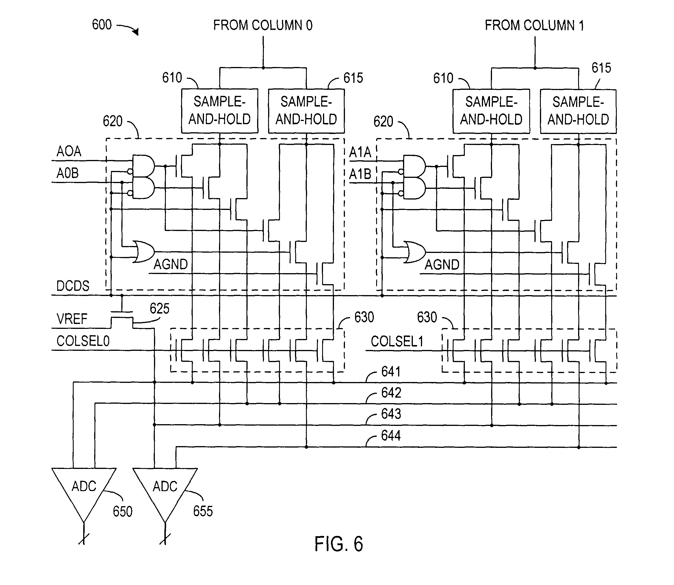 patent us7456879 - digital correlated double sampling using dual analog path