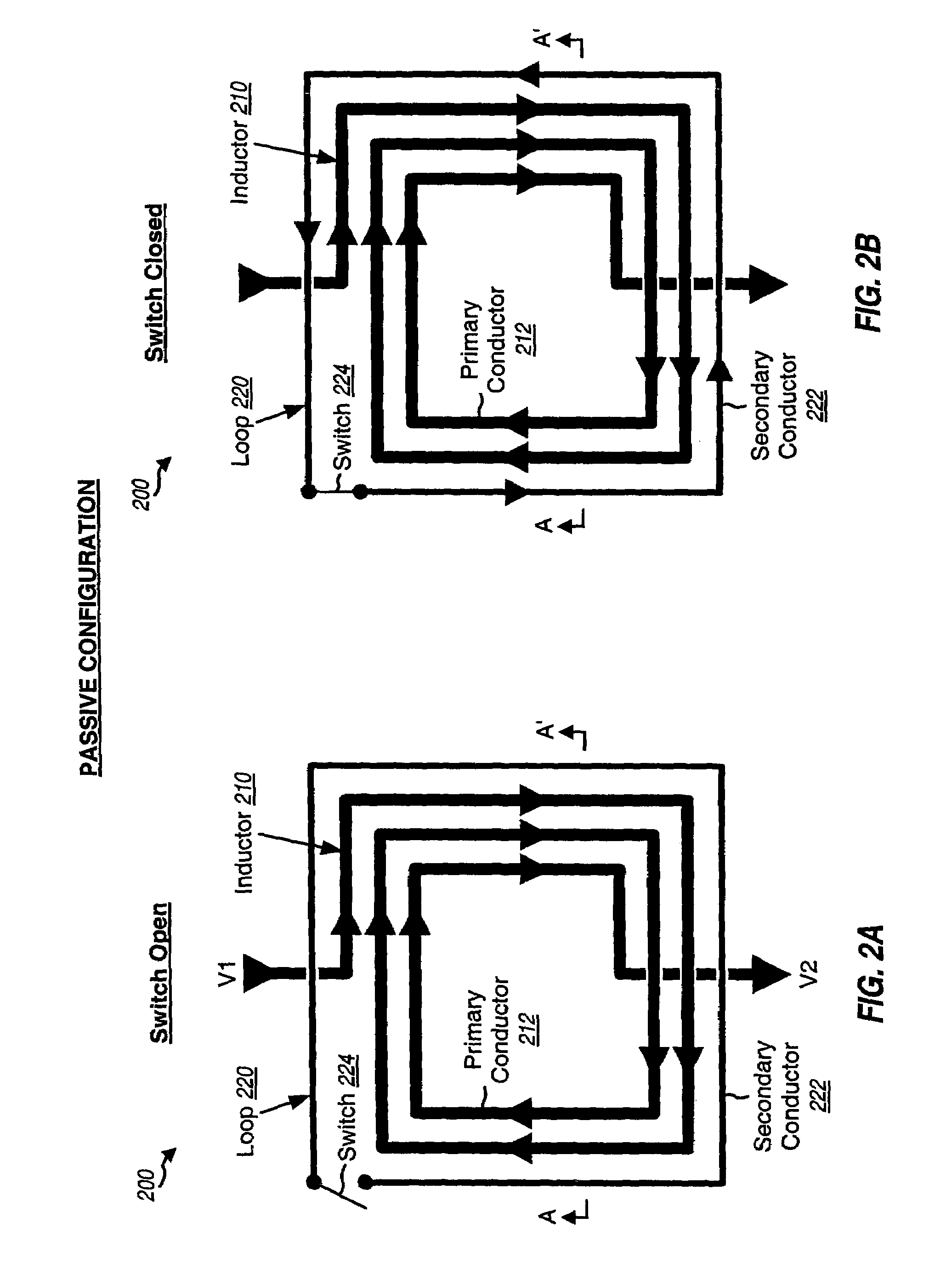 patent us7460001 - variable inductor for integrated circuit and printed circuit board