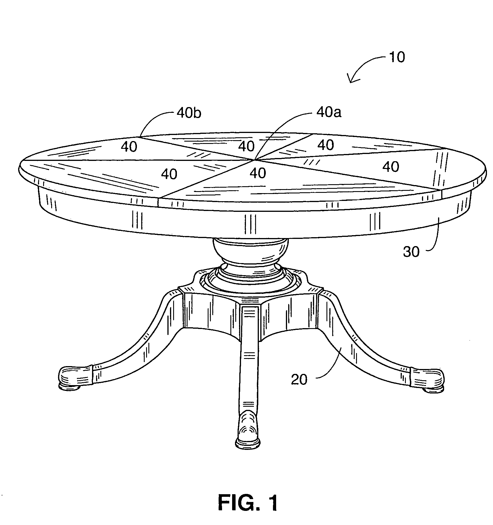 round table drawing patent us7464653 expansible table google patents 3875