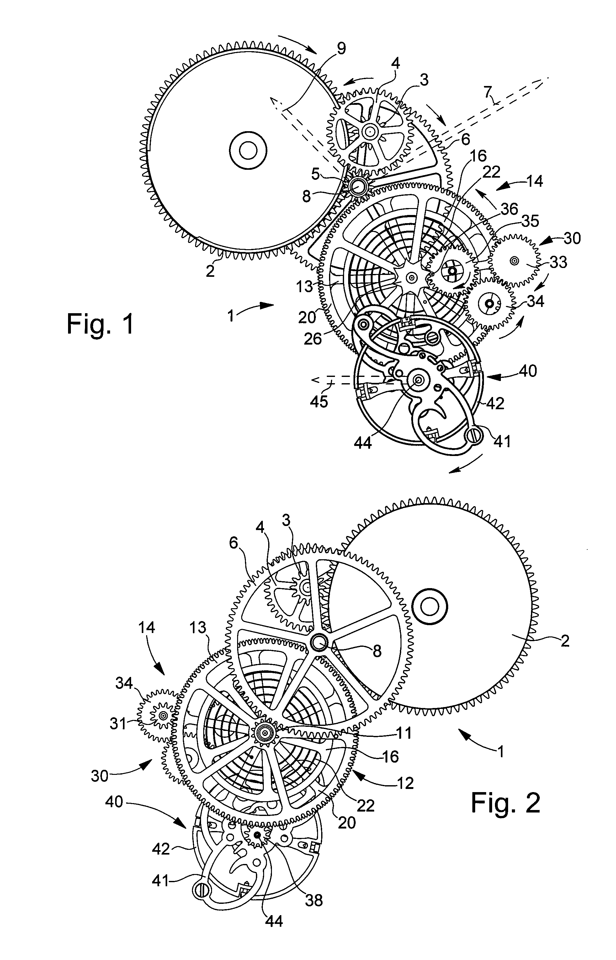 Patent US7473027 Watch whose movement includes a