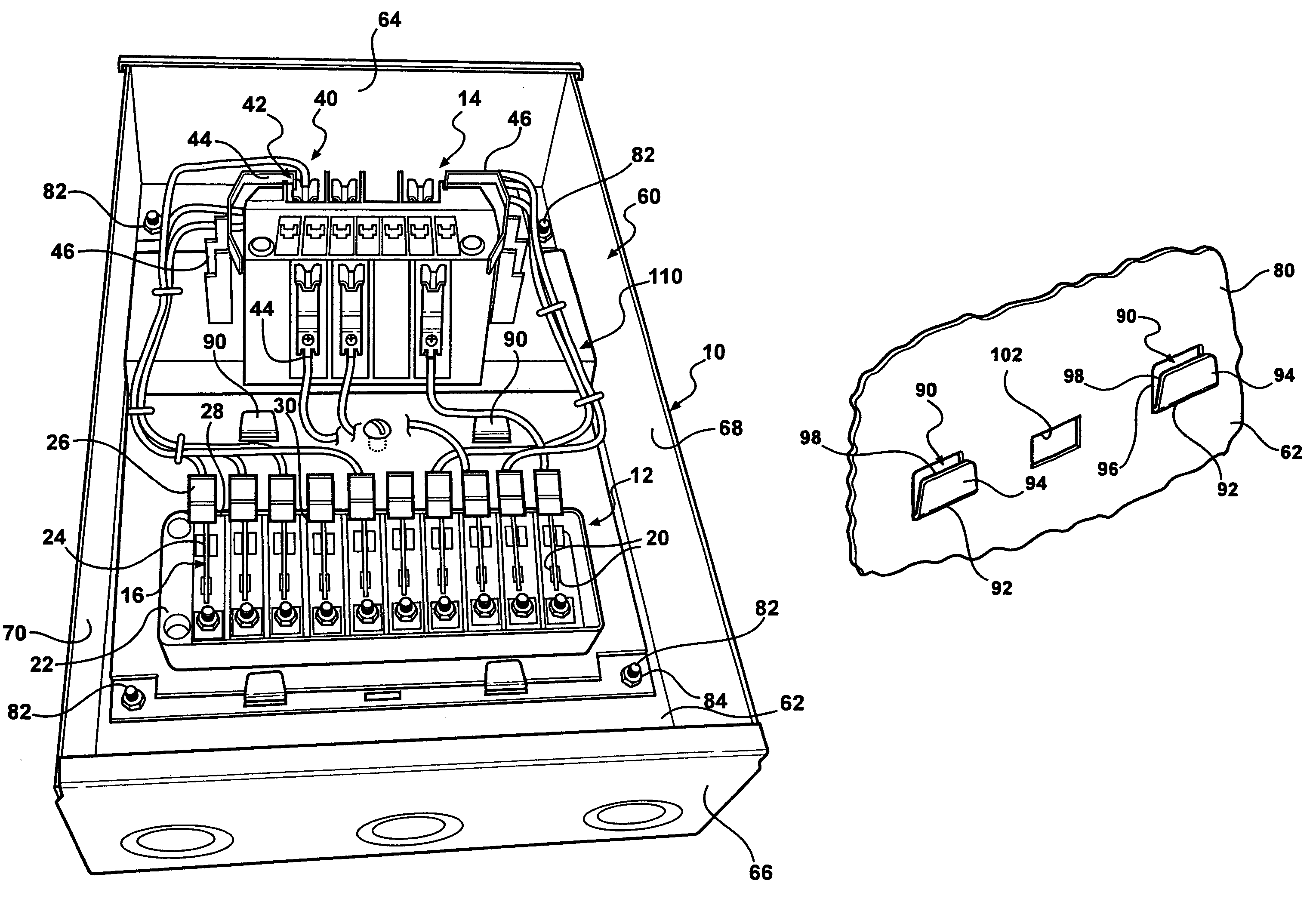 patent us7479029 - modular watthour meter socket and test switch