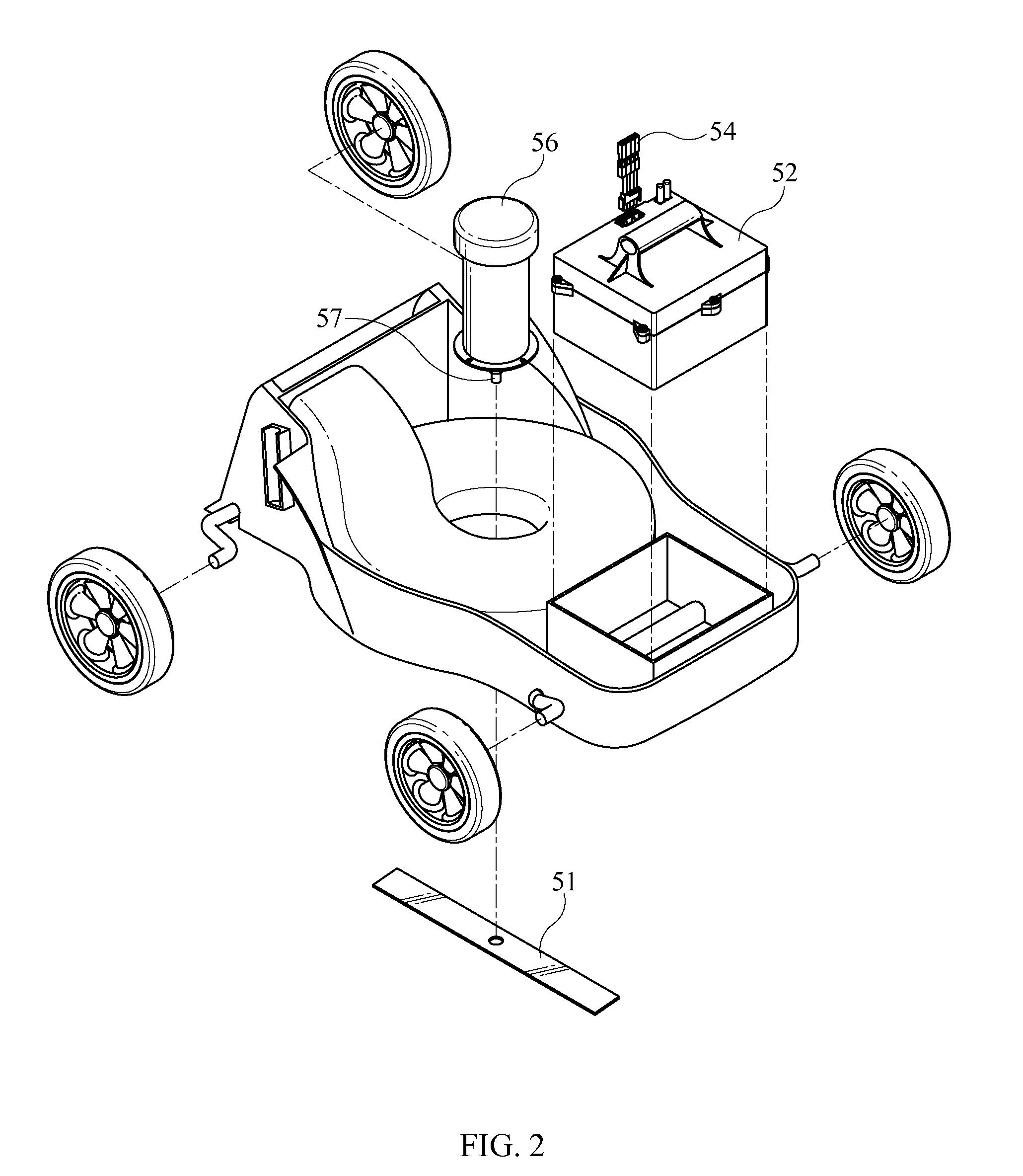 patent us7479754 - hybrid electric lawnmower
