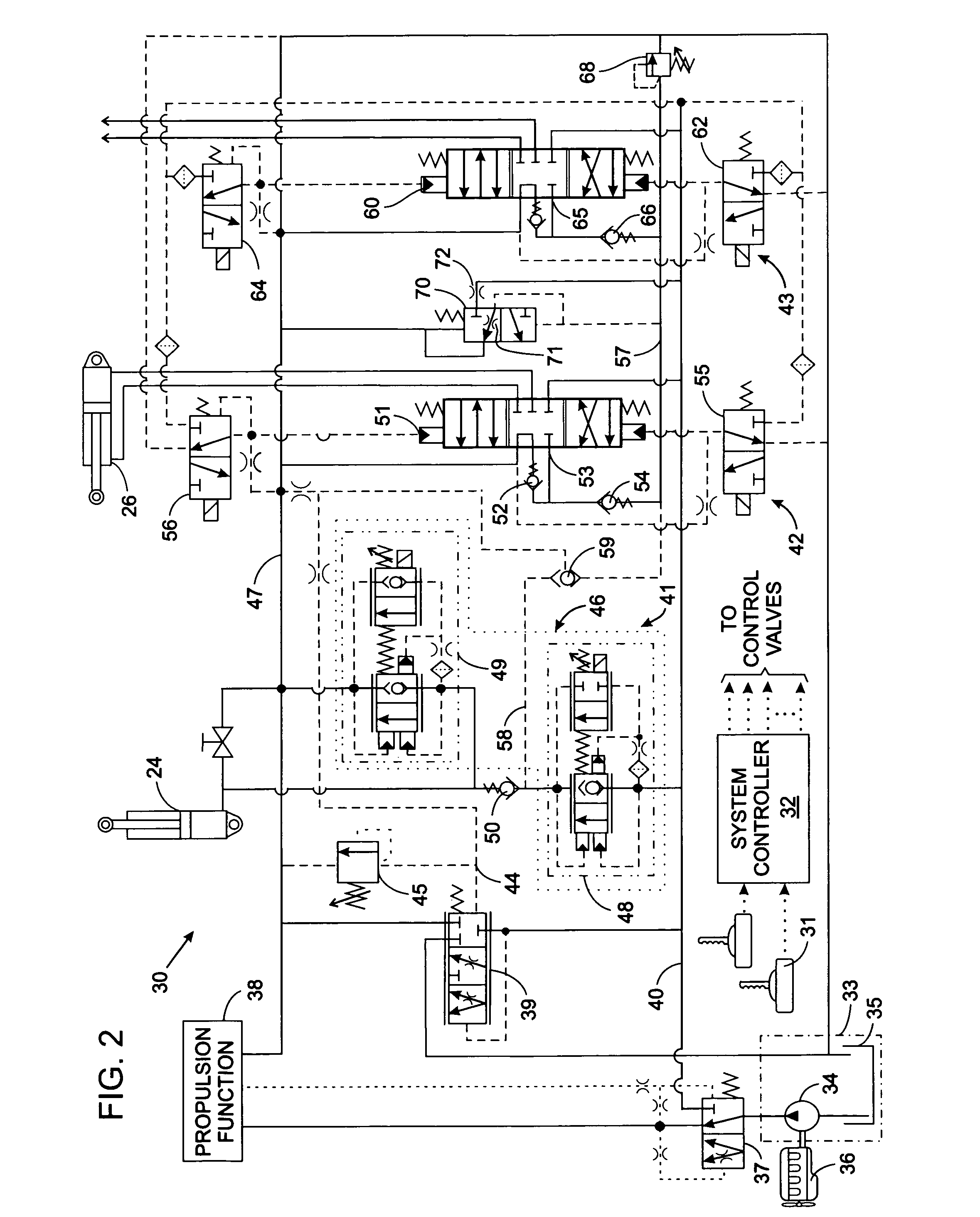 Skytrak Wiring Diagram in addition US7484814 also Primer Pipe Supports further US6055902 further P 0900c15280216444. on load sense hydraulic schematic