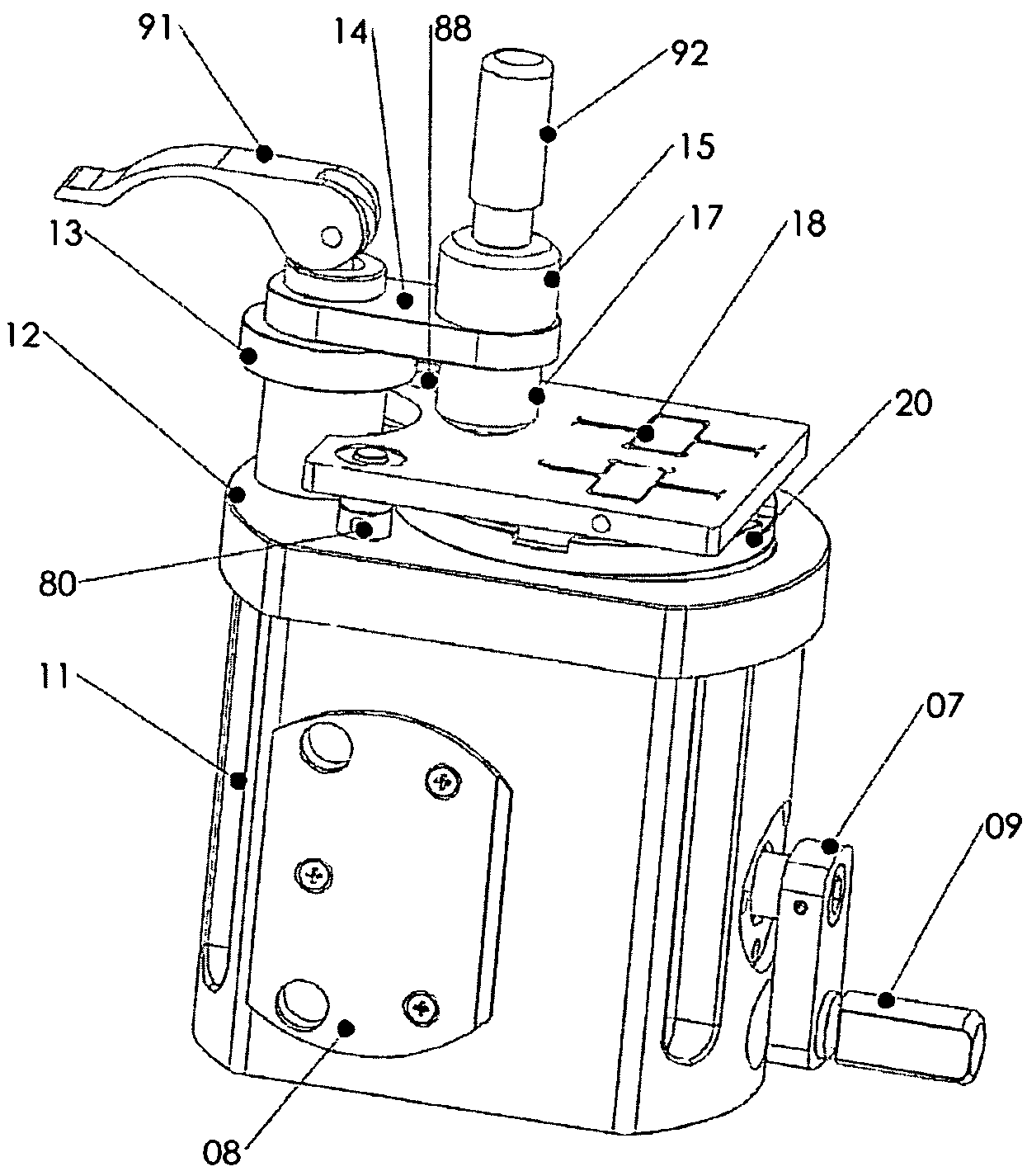 brevet us7491114 fiber optic polisher brevets Fiber Connector Types Chart patent drawing