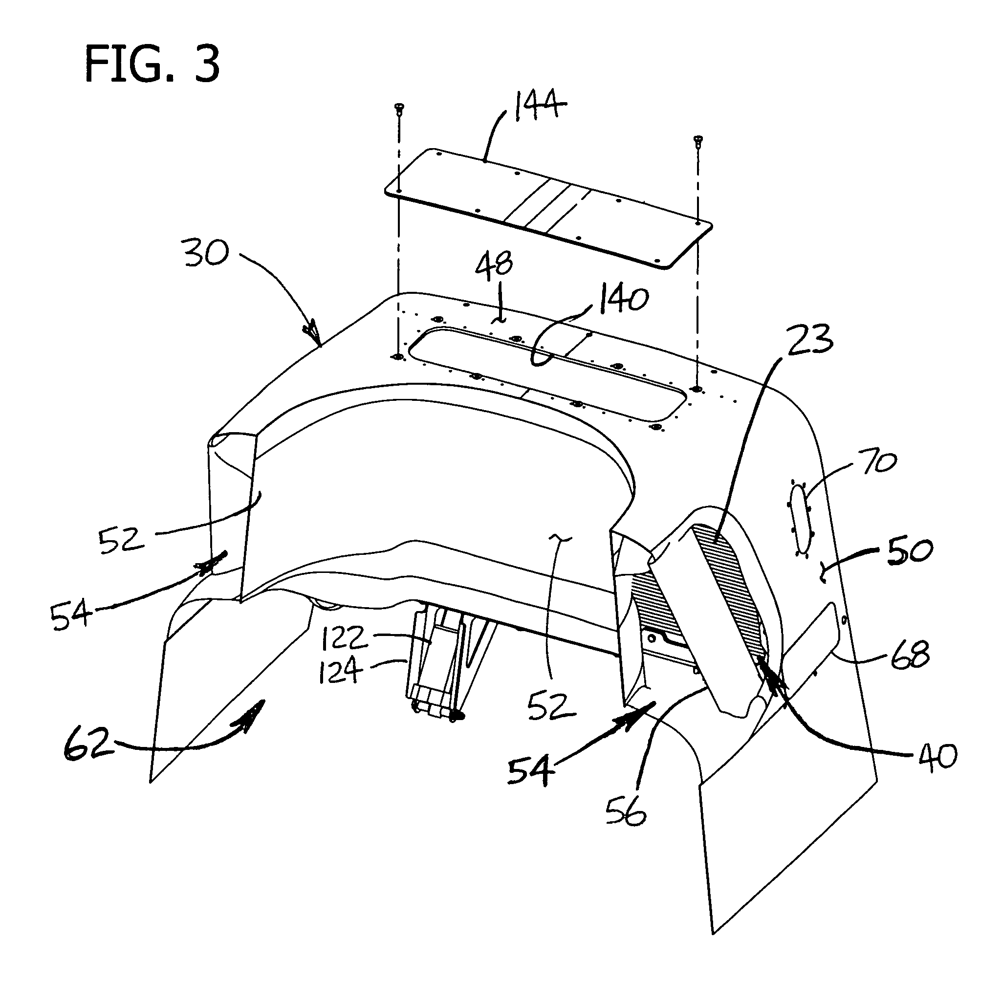 patent us7491253 engine intake system with accessible Air Filter Cartridge patent drawing