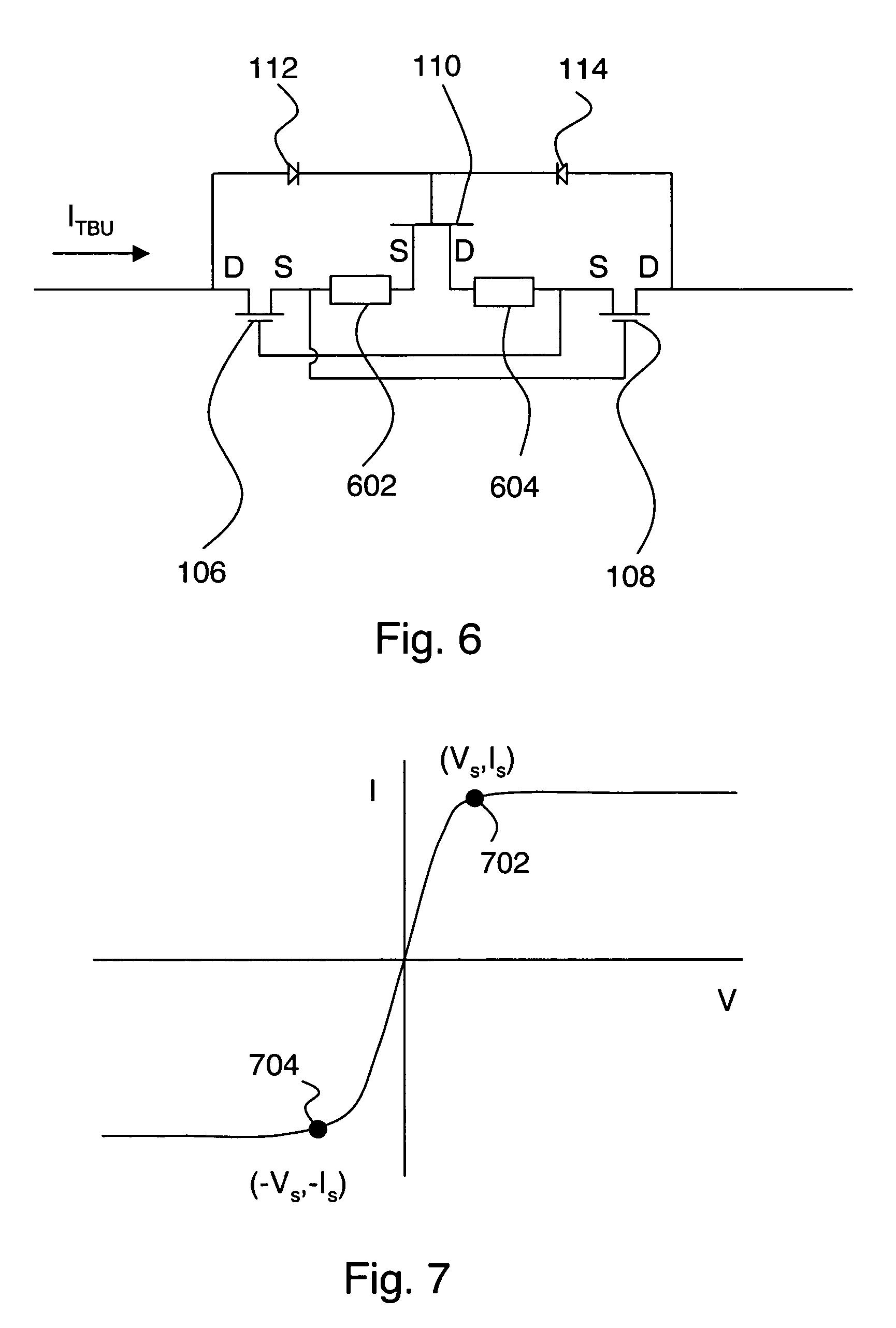 patent us7492566 - low resistance transient blocking unit