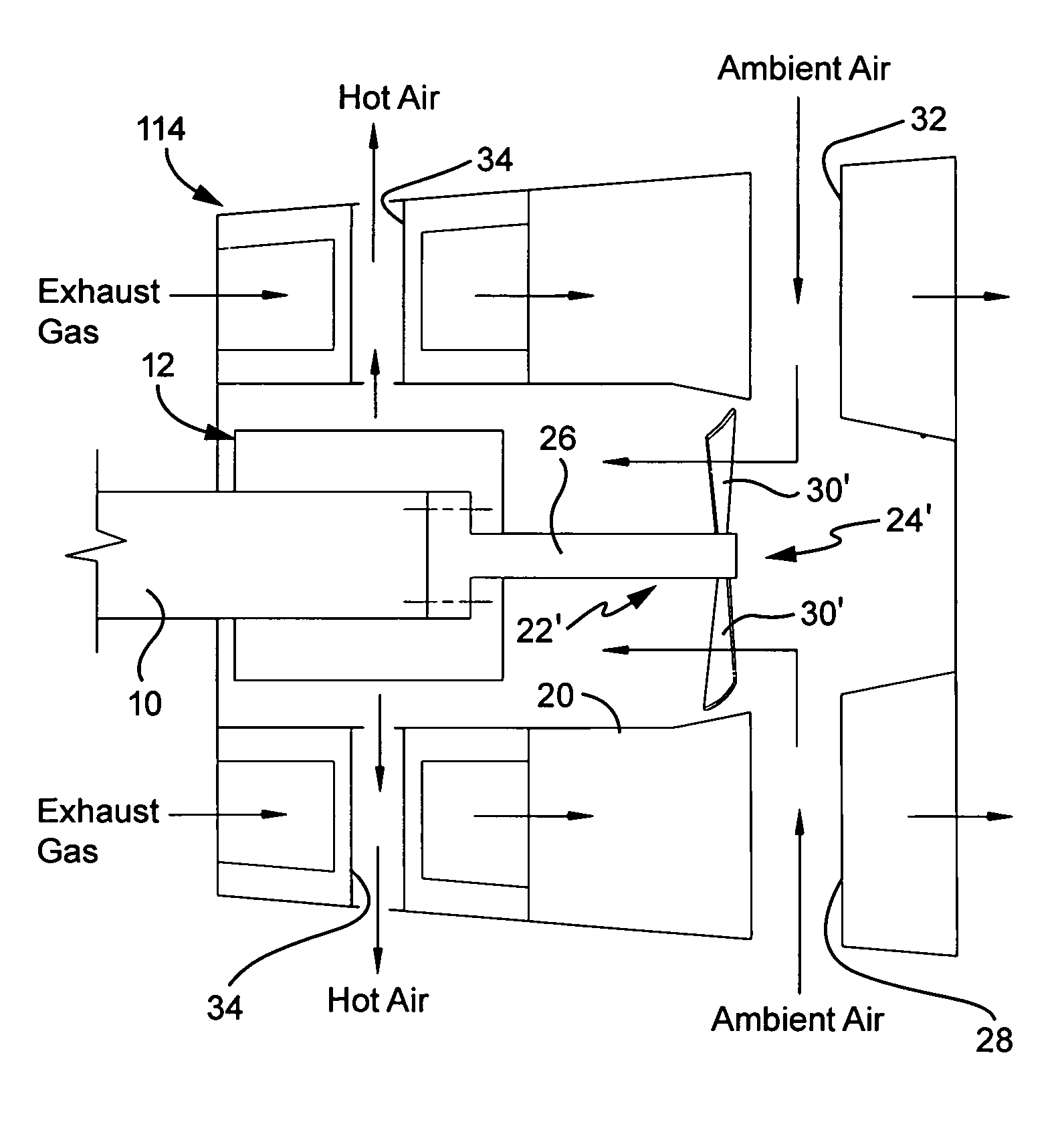 Patent US Assembly and method for cooling rear bearing