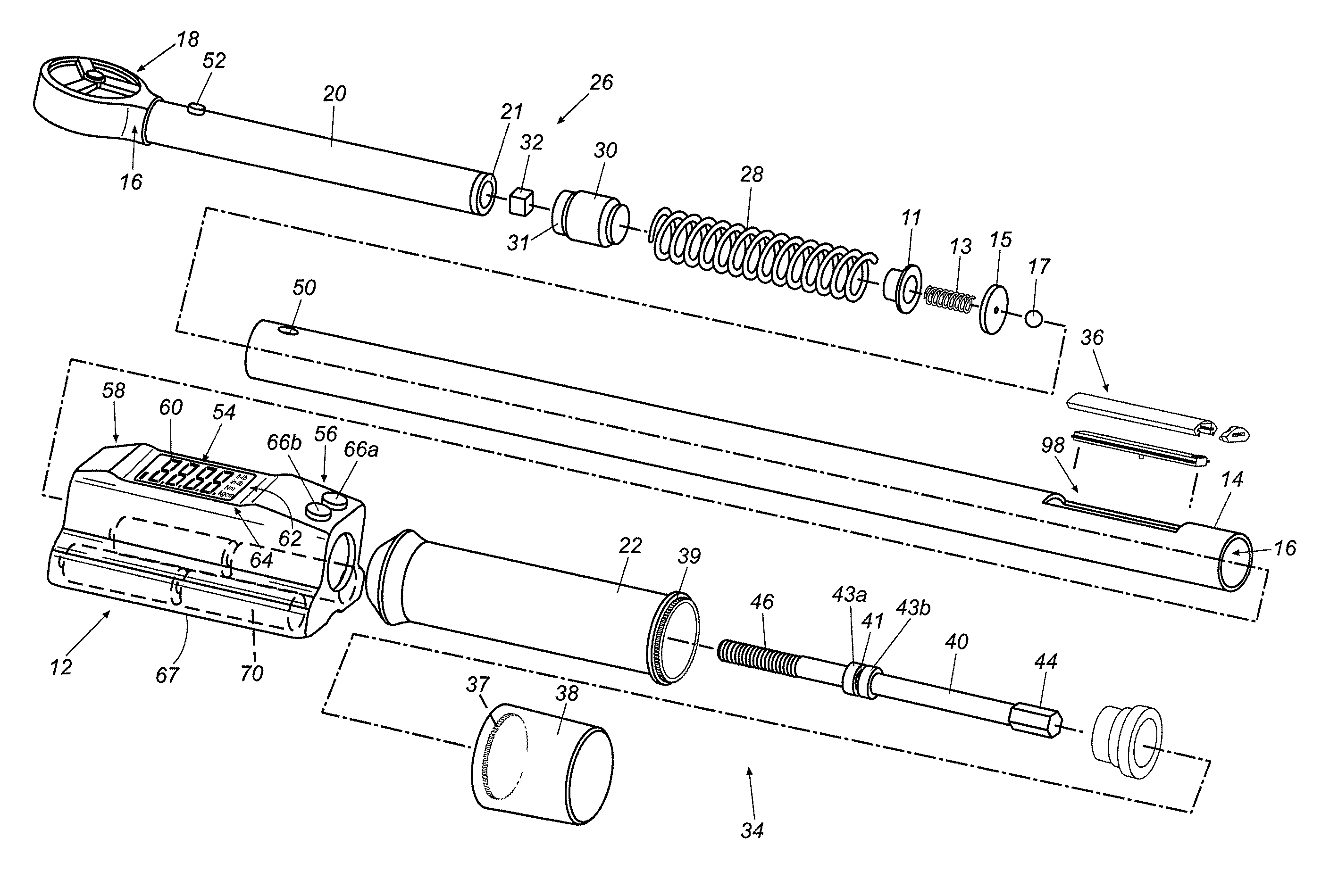 Patent US7493830 - Mechanical torque wrench with an ...