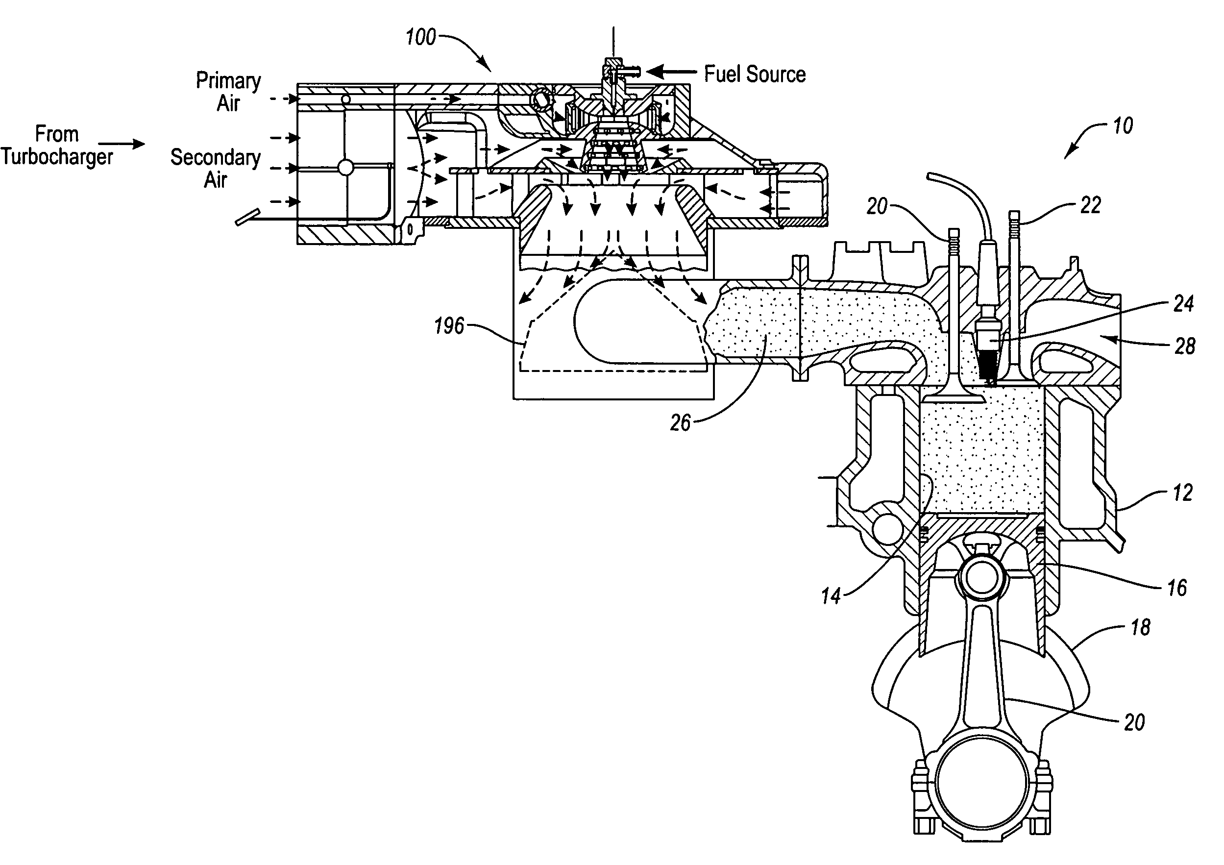 Patent Us7500464 Fuel Processor Apparatus And Method For A Diesel 200 Isuzu Engine Vacuum Diagram Drawing