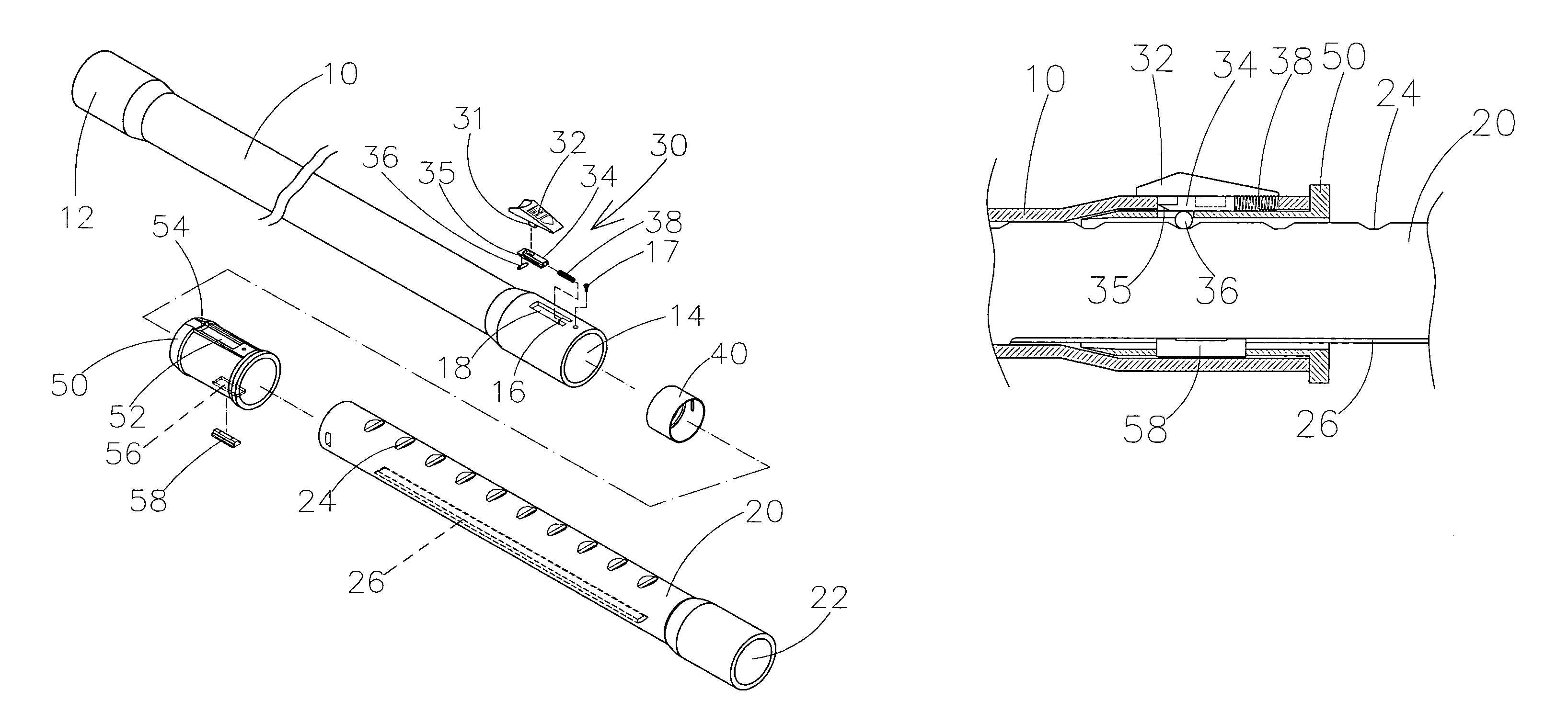 Patent US7516988 - Telescopic coupling tube for a vacuum