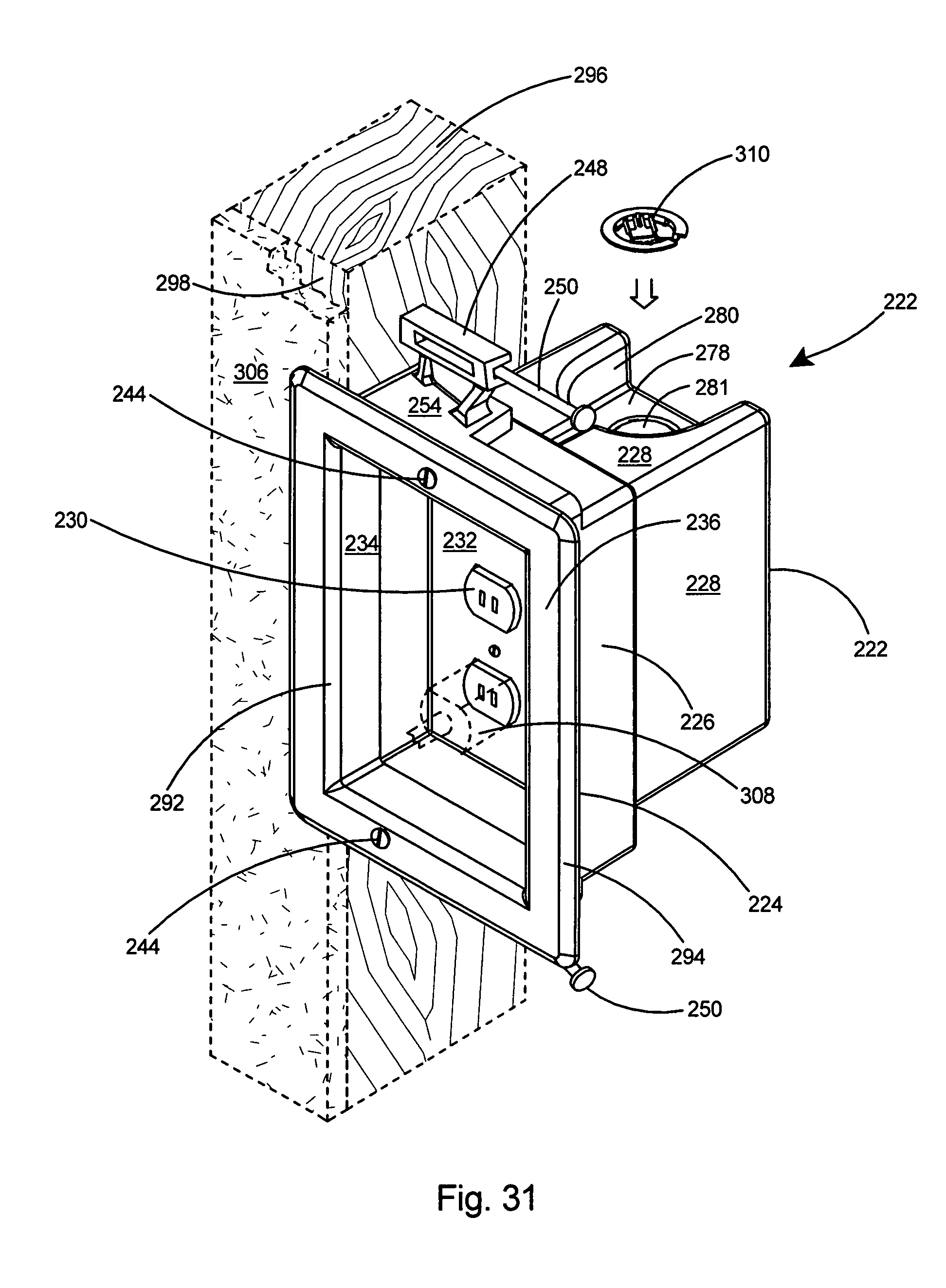 patent us7518061 - recessed electrical box