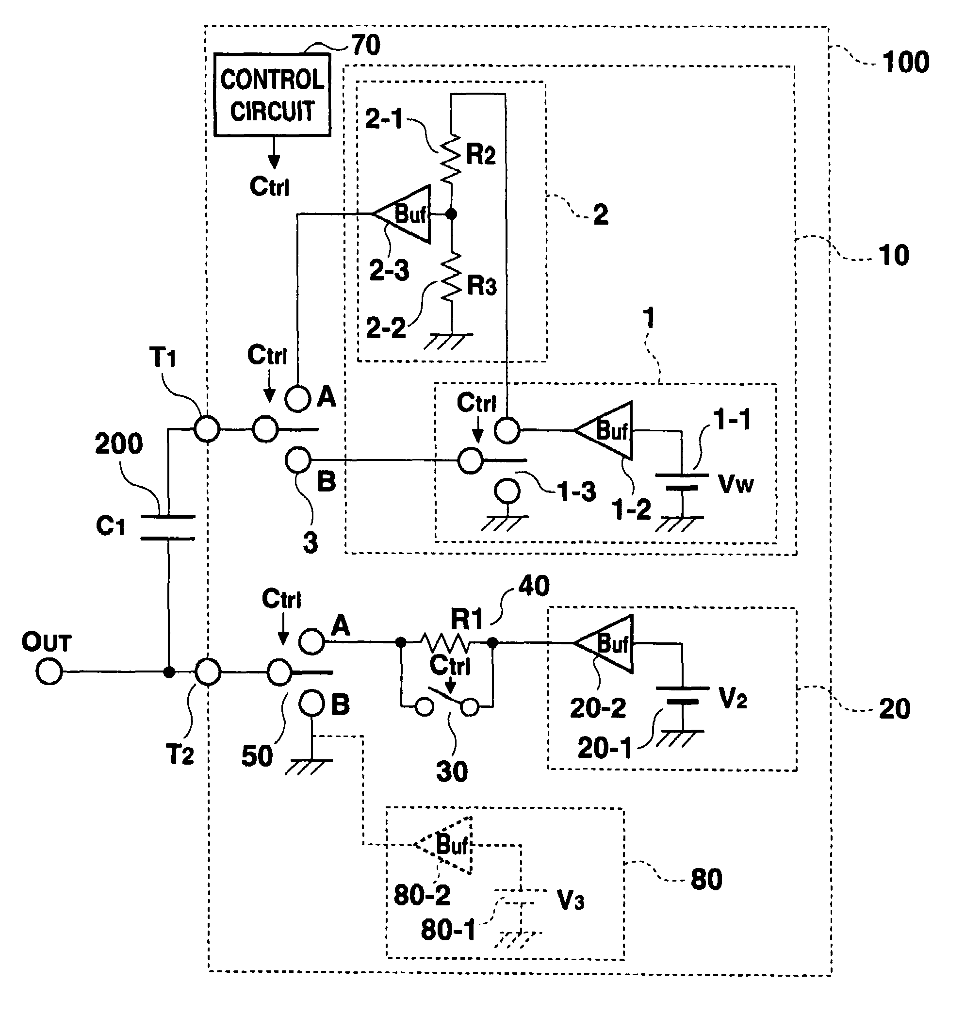 Patent Us7518603 Power Circuit Applying Ac Voltage And Dc Divider Drawing