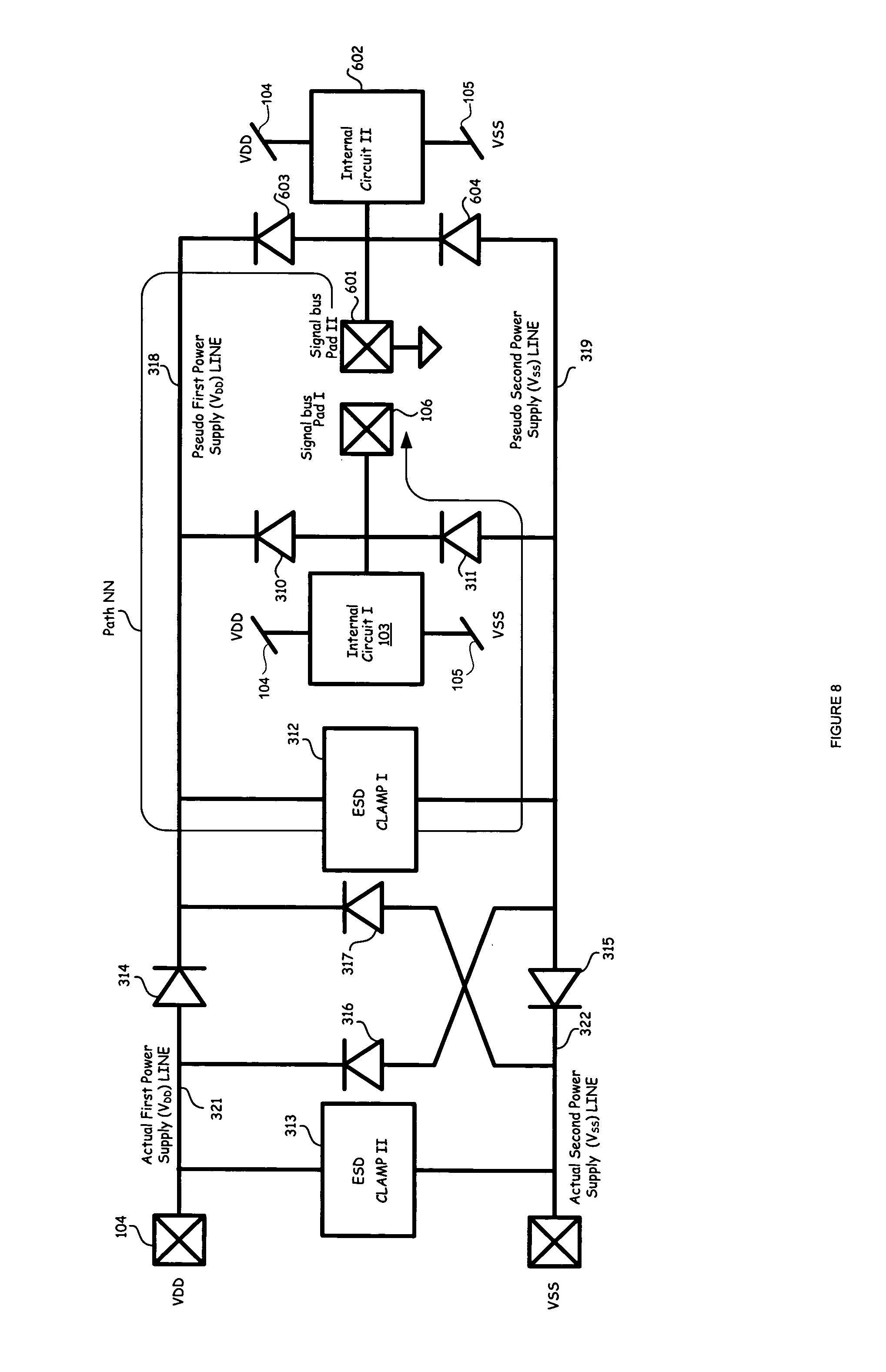 patent us7518844 - over-voltage tolerant esd protection circuit
